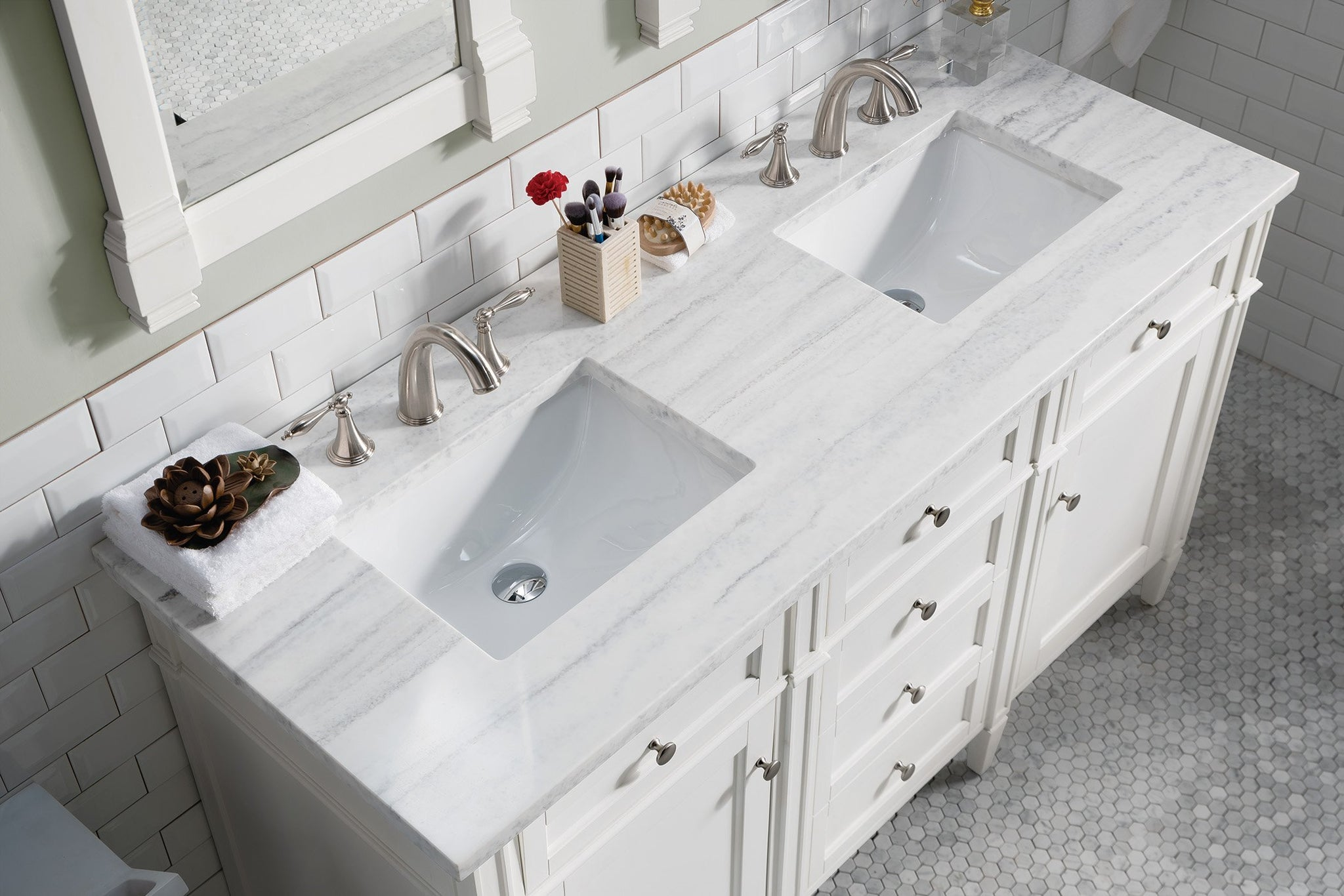 "Brittany 60"" Double Bathroom Vanity Double bathroom Vanity James Martin Vanities"