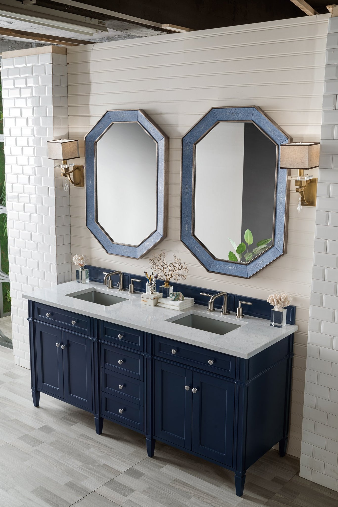 "Brittany 72"" Double Bathroom Vanity Double bathroom Vanity James Martin Vanities"
