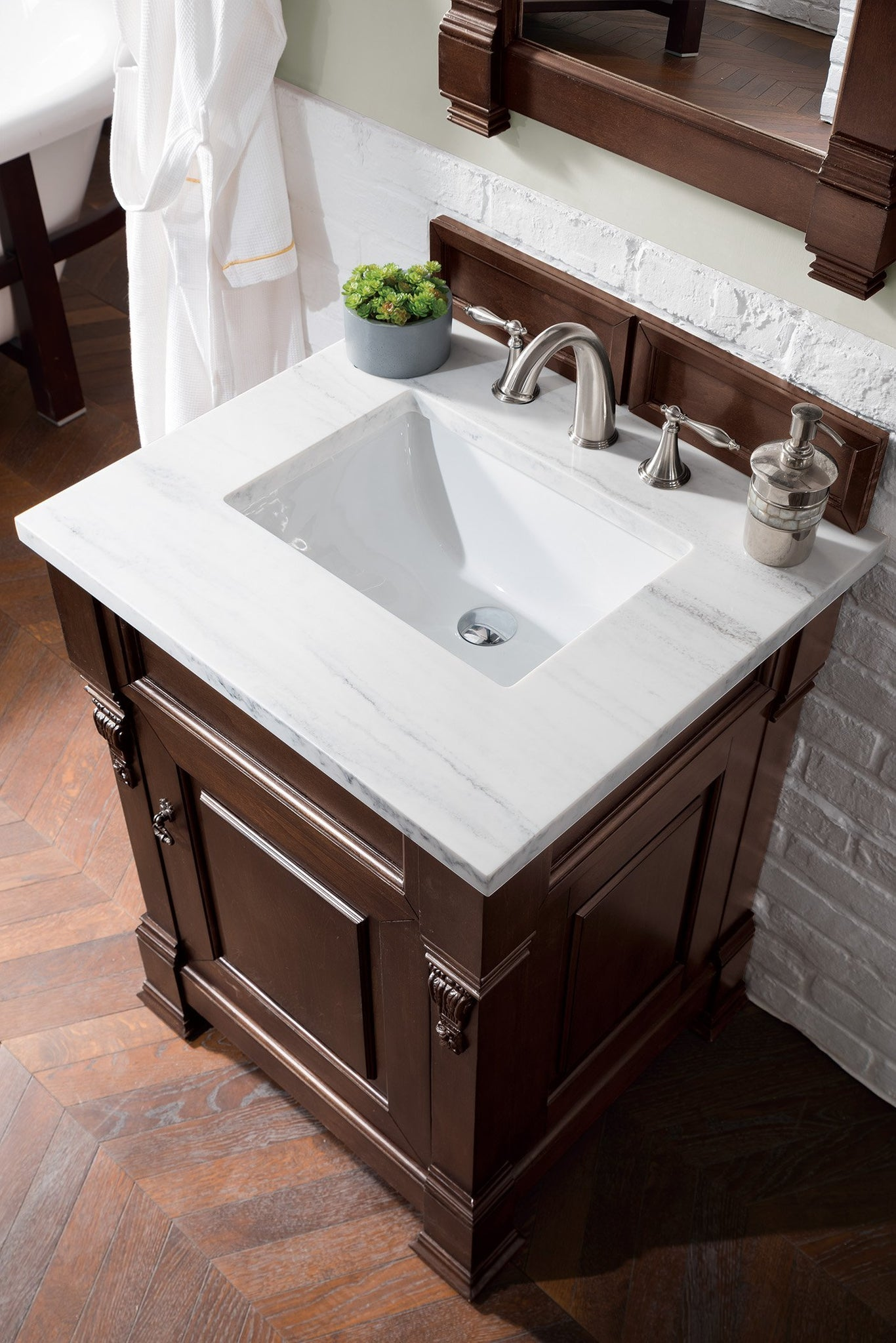 "Brookfield 26"" Single Bathroom Vanity Single Bathroom Vanity James Martin Vanities"
