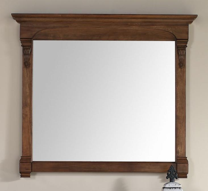 "Brookfield 47.25"" Mirror, Country Oak Mirror James Martin Vanities"