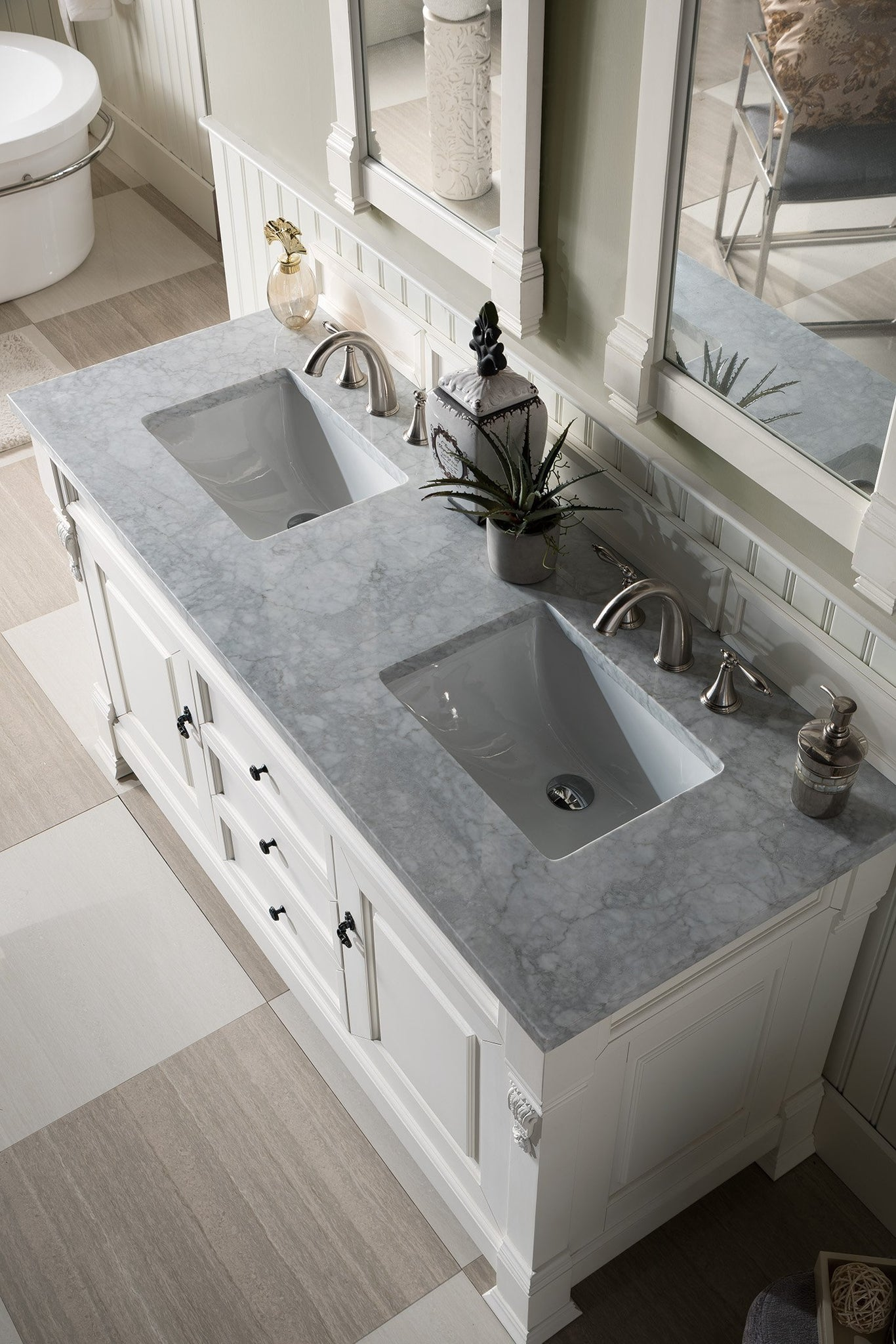 "Brookfield 60"" Double Bathroom Vanity Double bathroom Vanity James Martin Vanities"
