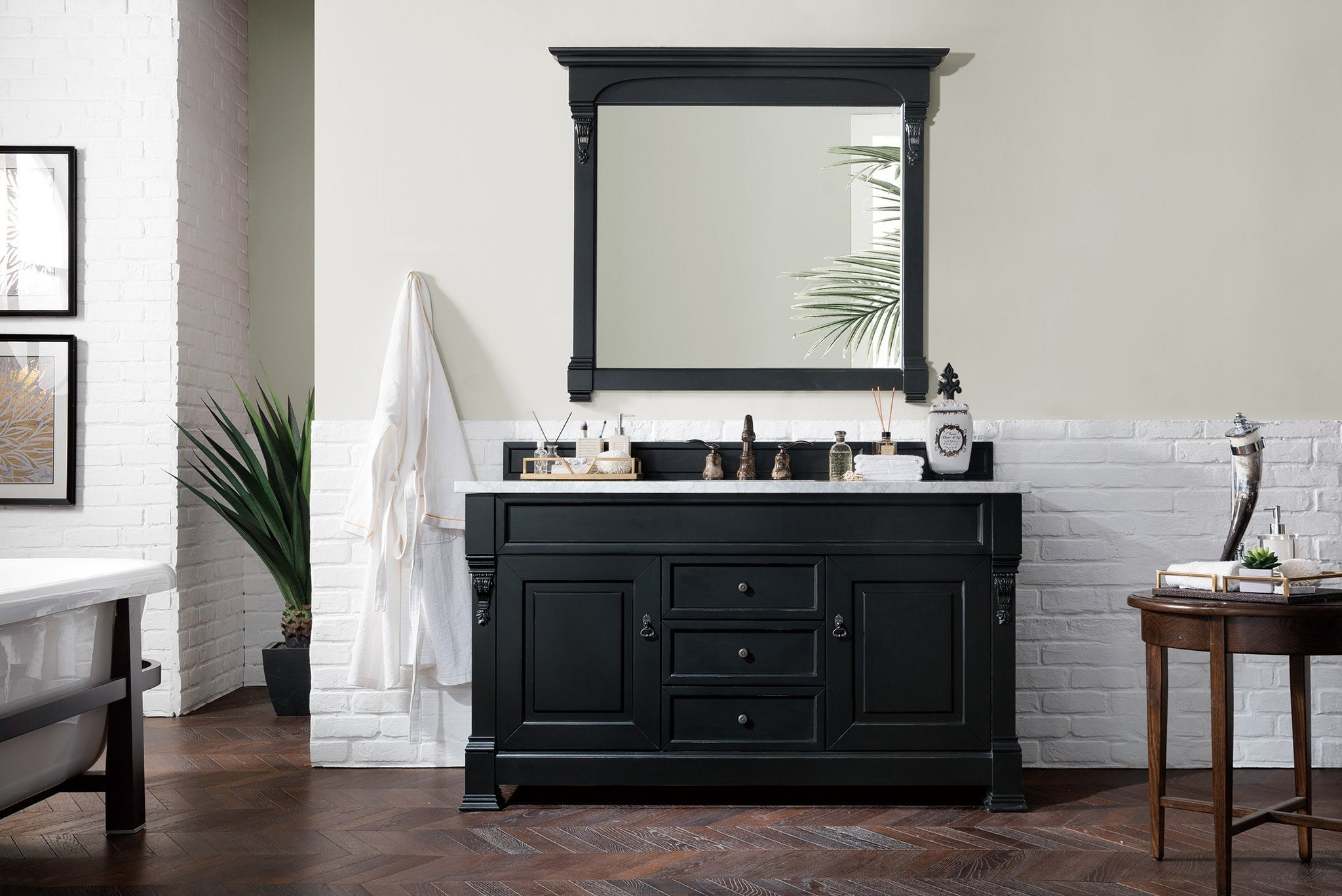"Brookfield 60"" Single Bathroom Vanity Single Bathroom Vanity James Martin Vanities"