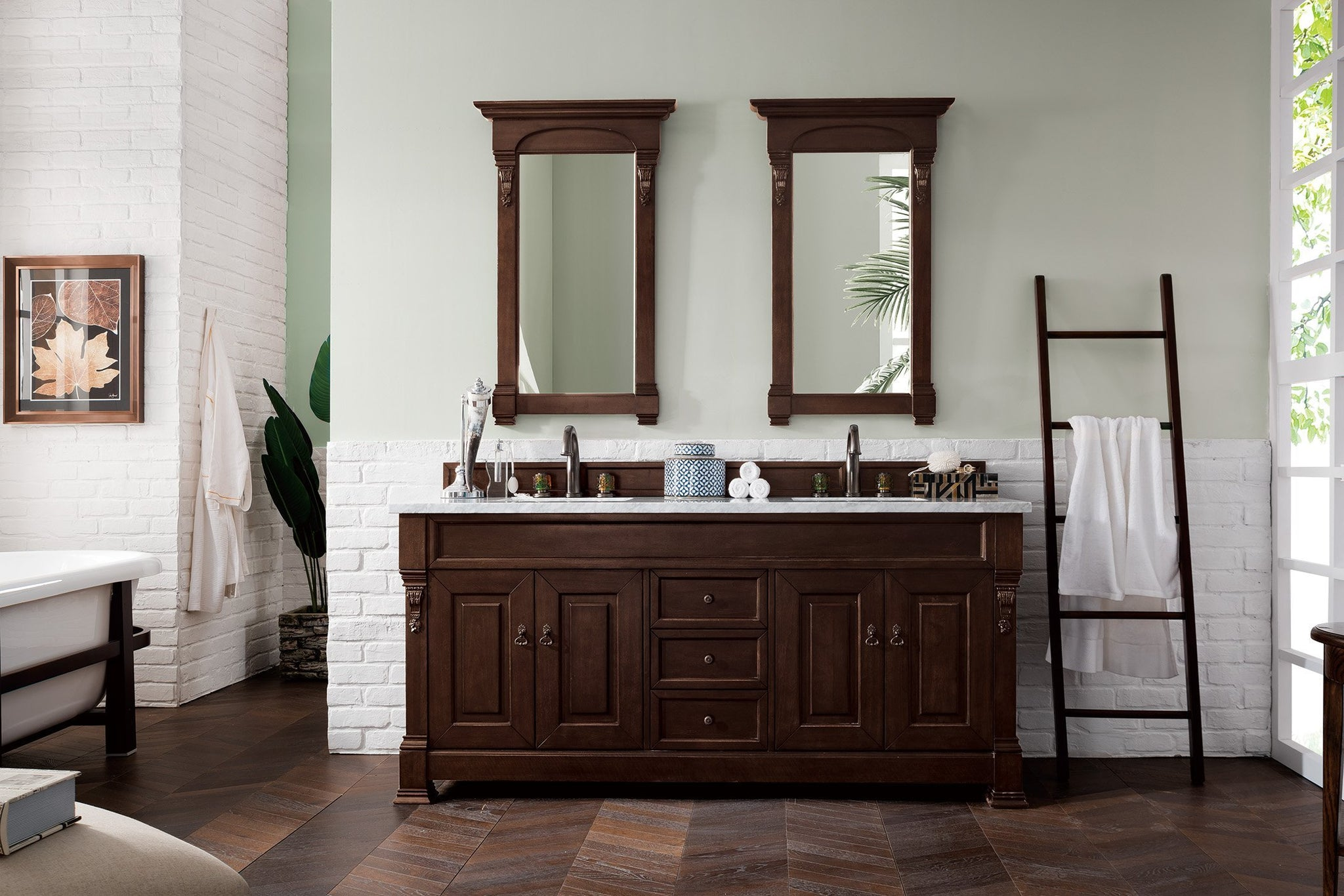 "Brookfield 72"" Double Bathroom Vanity Double bathroom Vanity James Martin Vanities"