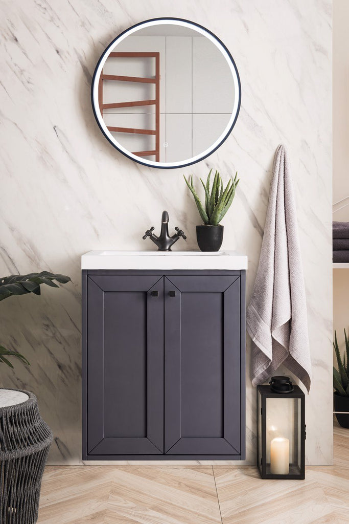 "Chianti 24"" Single Vanity Cabinet, Mineral Grey"