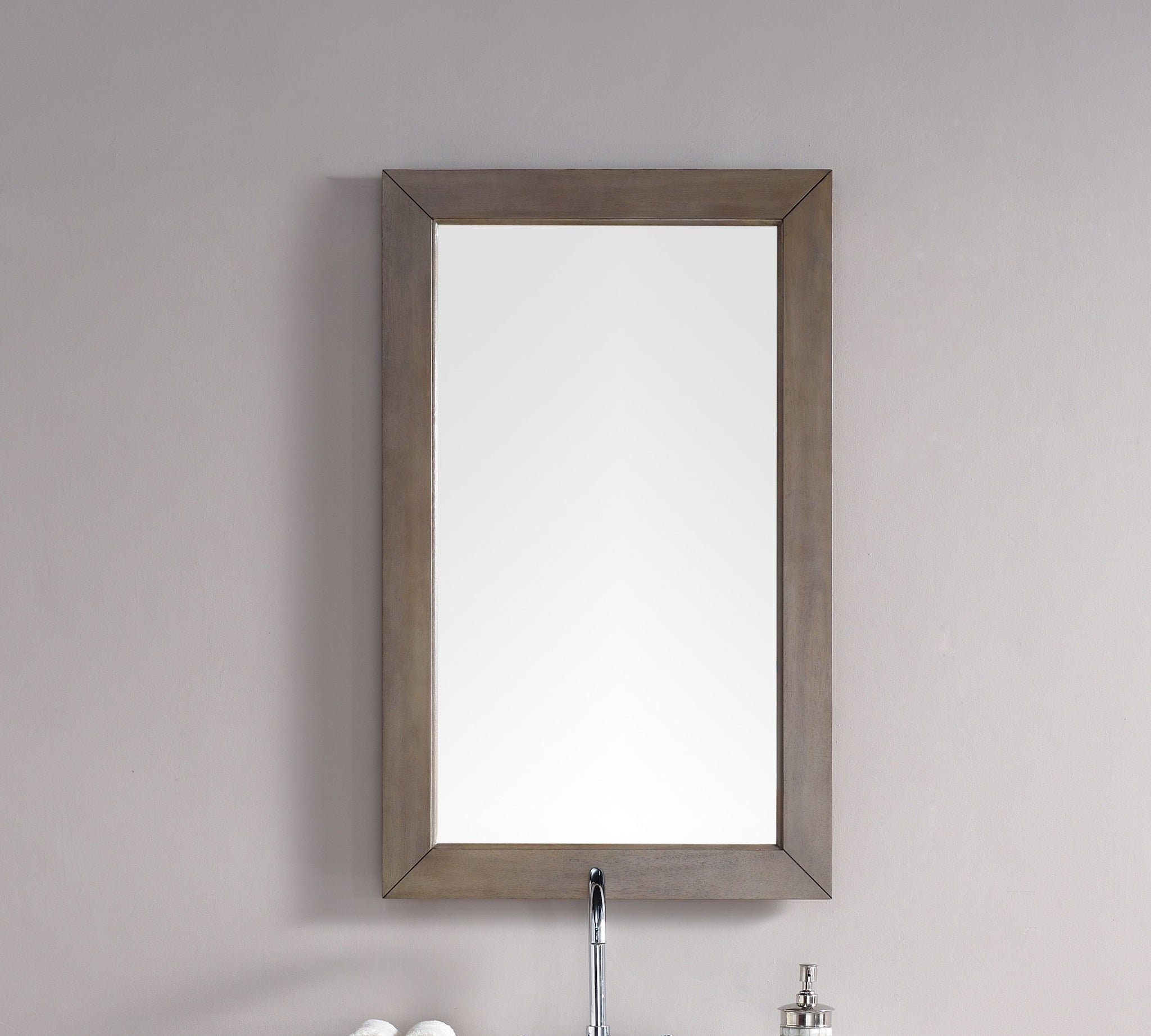 "Chicago 26"" Mirror, Whitewashed Walnut Mirror James Martin Vanities"