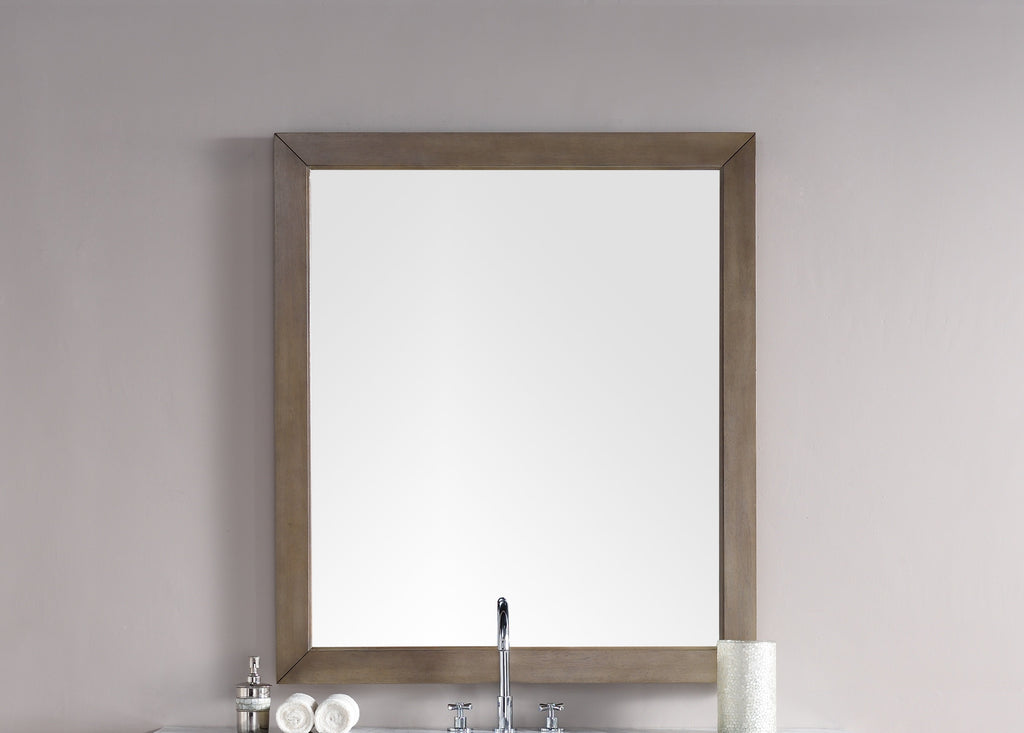 "Chicago 48"" Mirror, Whitewashed Walnut"