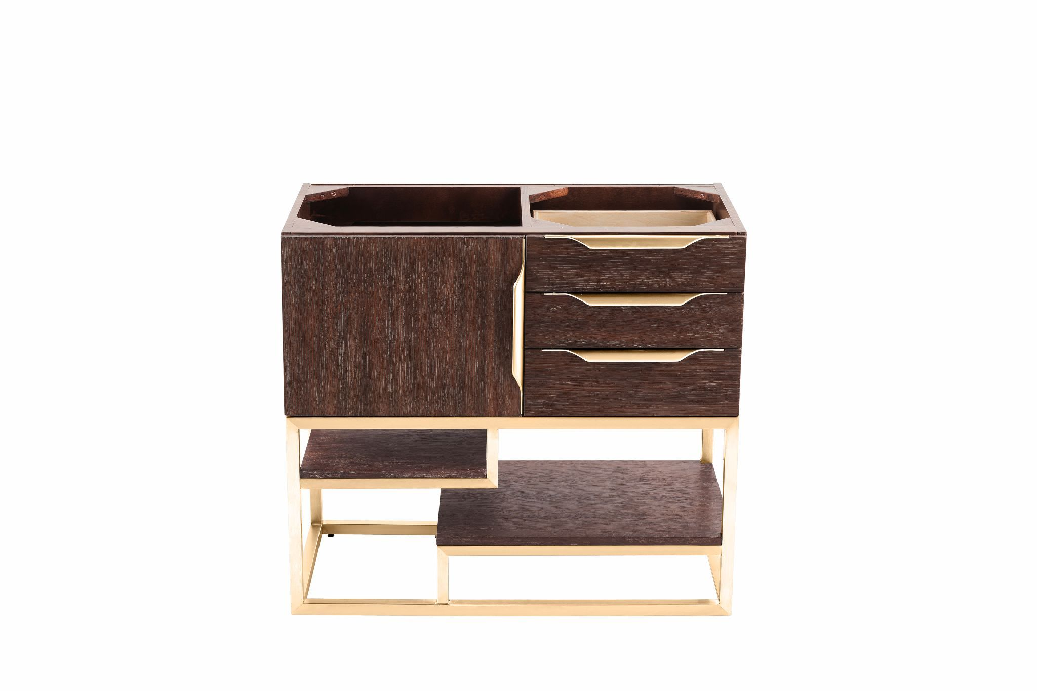 "Columbia 36"" Single Bathroom Vanity, Coffee Oak Single Bathroom Vanity James Martin Vanities"