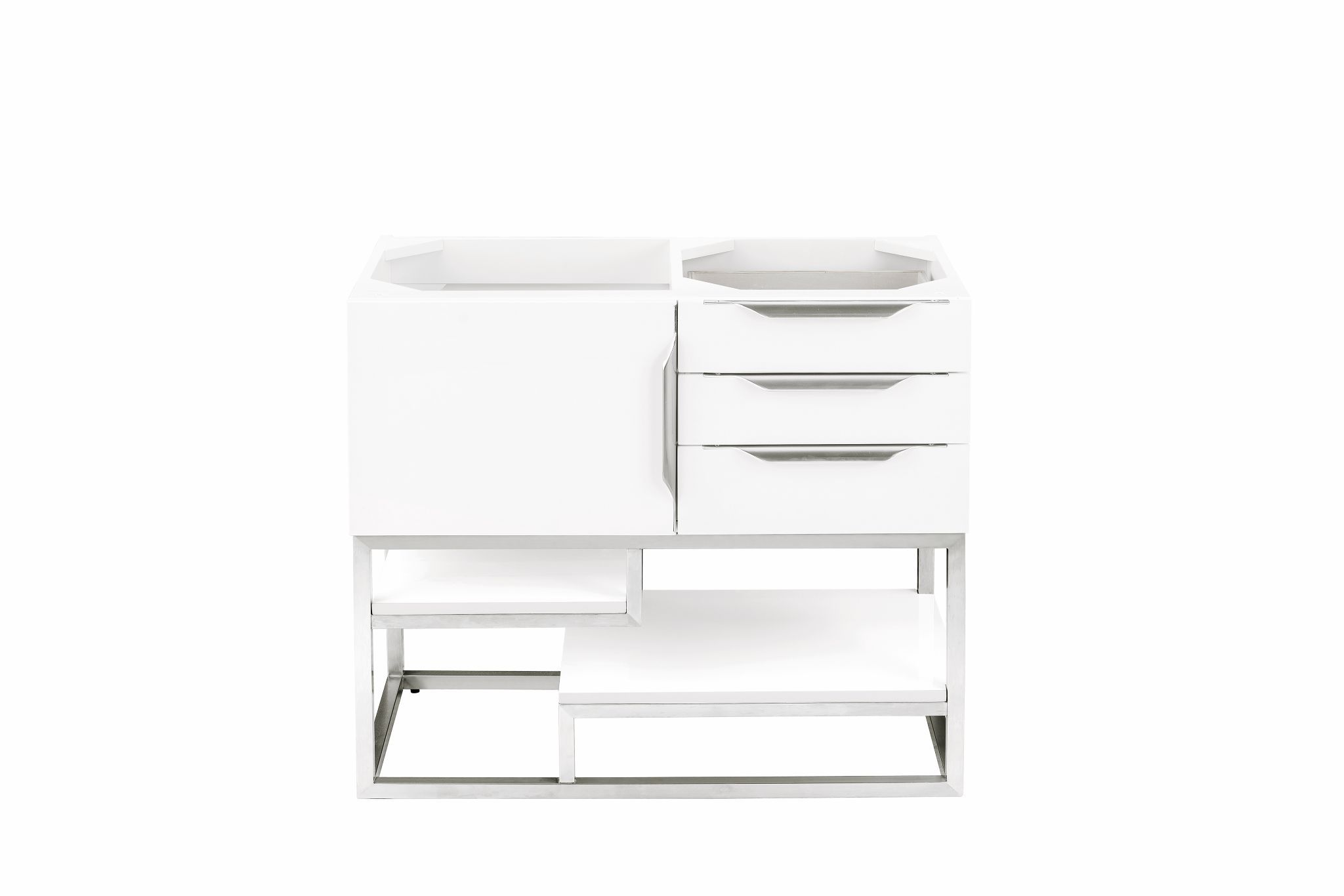 "Columbia 36"" Single Bathroom Vanity, Glossy White Single Bathroom Vanity James Martin Vanities"
