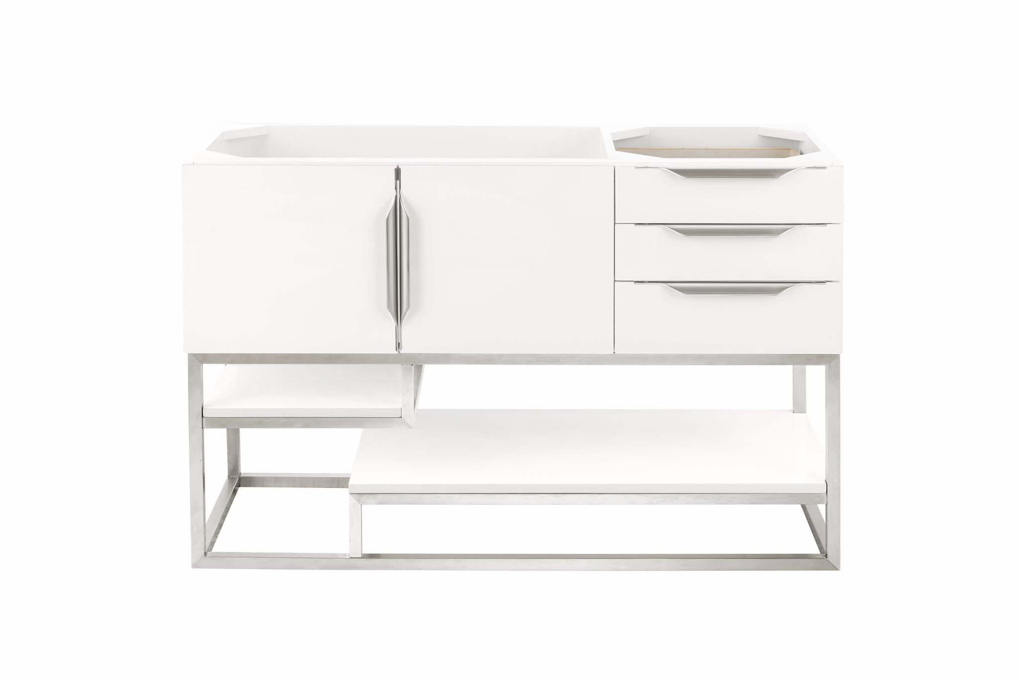 "Columbia 48"" Single Bathroom Vanity, Glossy White Single Bathroom Vanity James Martin Vanities"
