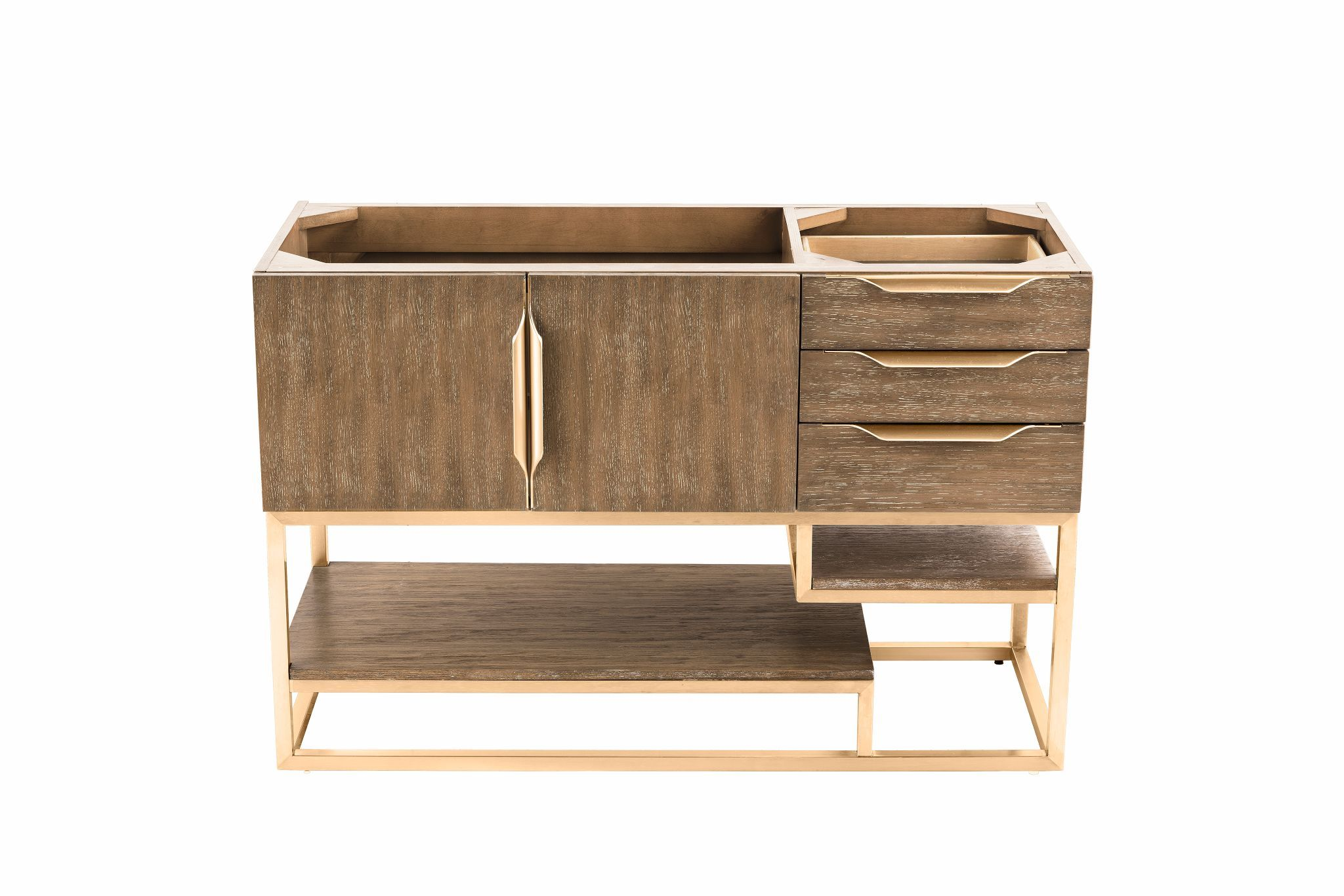 "Columbia 48"" Single Bathroom Vanity, Latte Oak Single Bathroom Vanity James Martin Vanities"