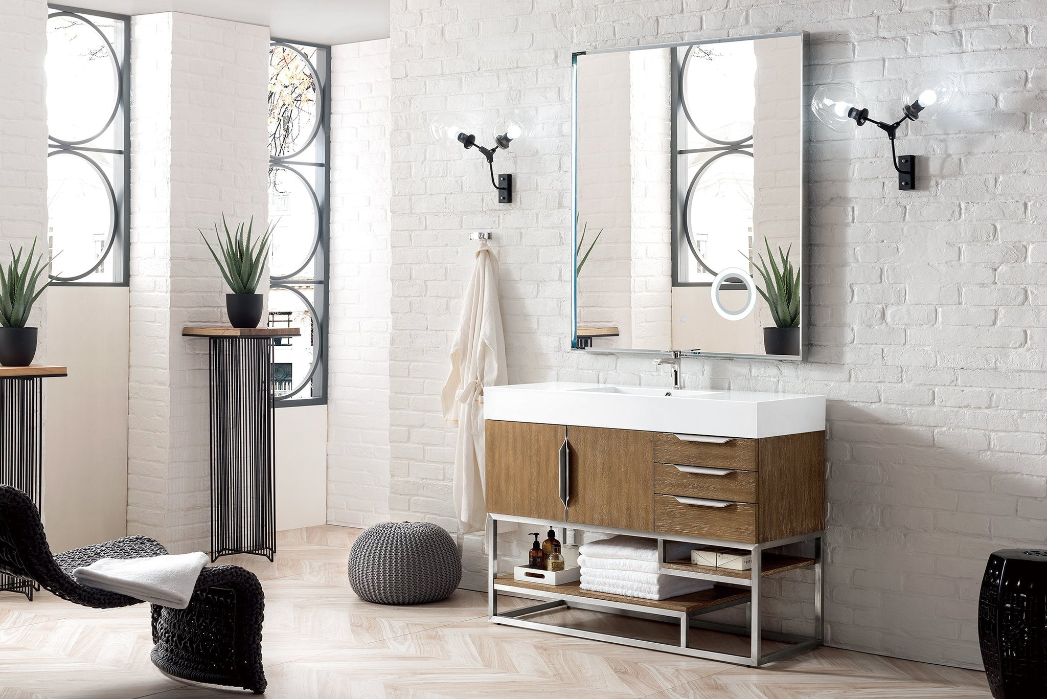 "Columbia 48"" Single Vanity, Latte Oak Single Bathroom Vanity James Martin Vanities"