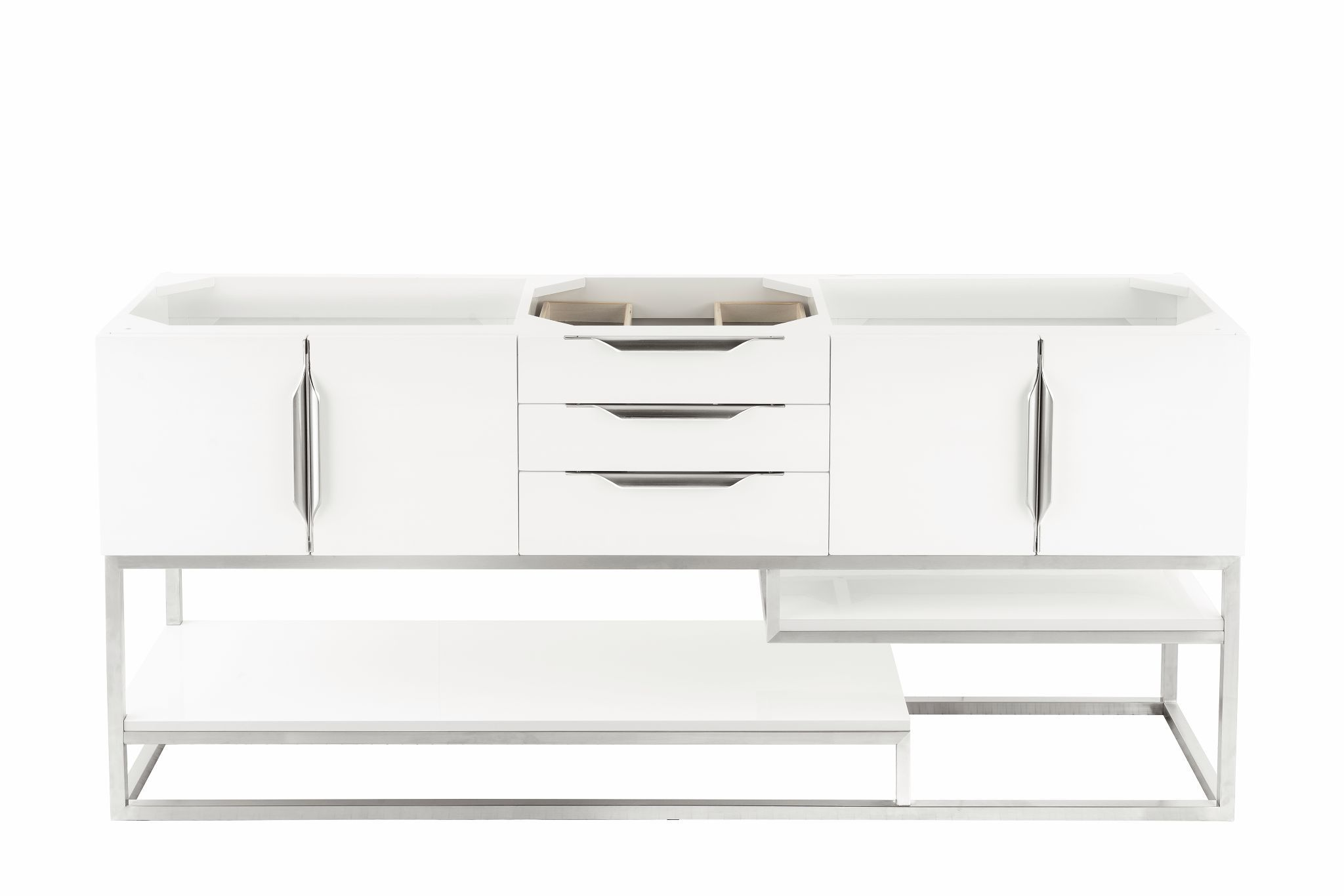 "Columbia 72"" Single Bathroom Vanity, Glossy White Single Bathroom Vanity James Martin Vanities"