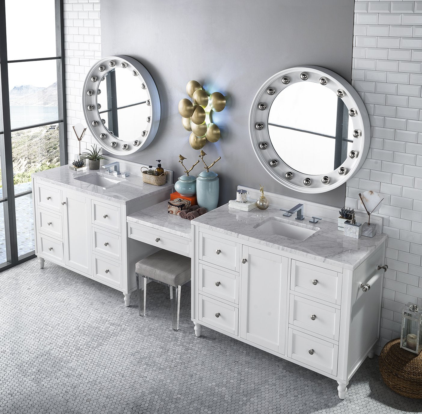 "Copper Cove Encore 122"" Double Bathroom Vanity Double bathroom Vanity James Martin Vanities"