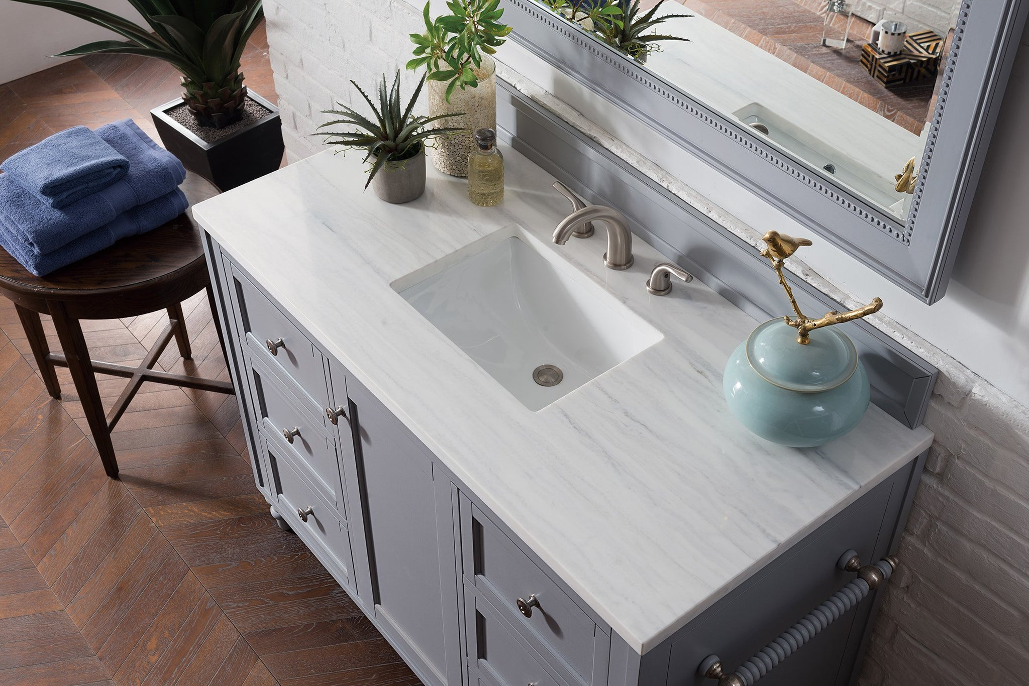 "Copper Cove Encore 48"" Single Bathroom Vanity Single Bathroom Vanity James Martin Vanities"