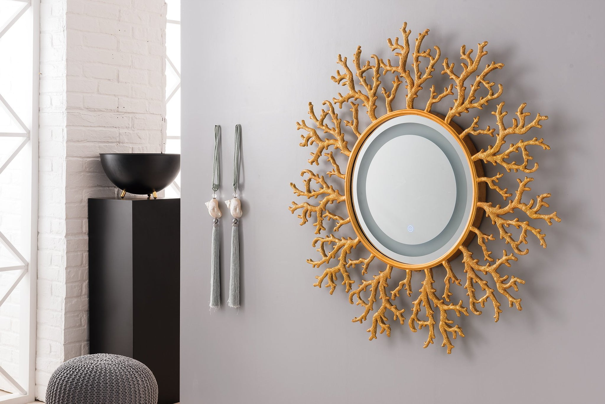 "Coral Reef 42"" Mirror, Radiant Gold Mirror James Martin Vanities"