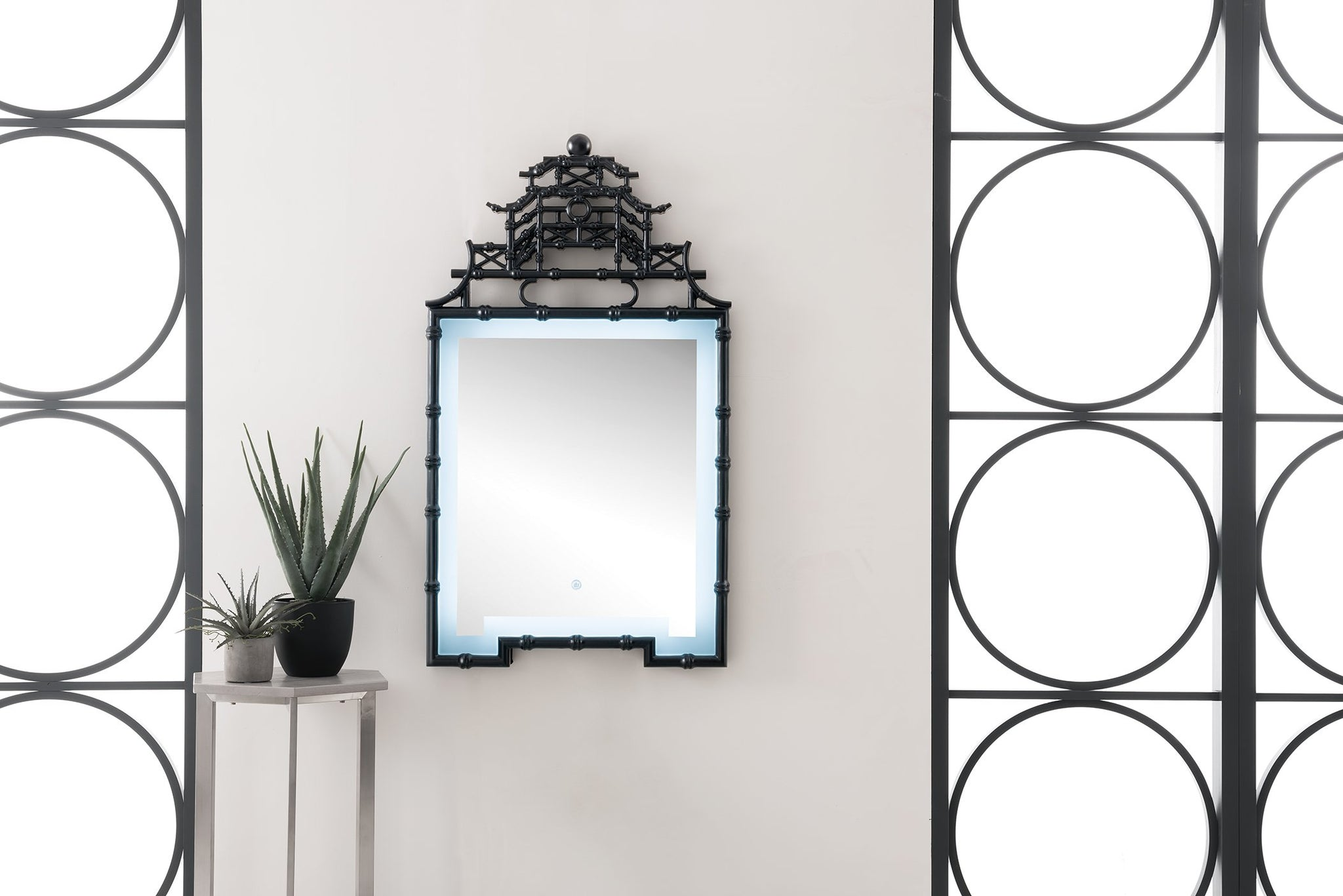 "Crawford 28"" Mirror, Black Onyx Mirror James Martin Vanities"