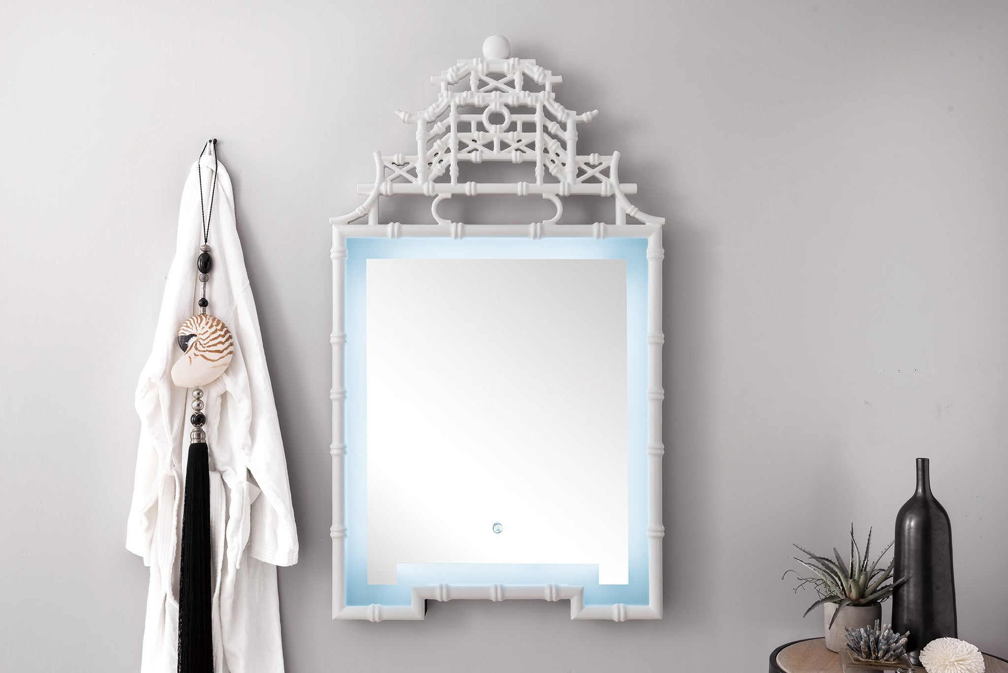 "Crawford 28"" Mirror, Bright White Mirror James Martin Vanities"