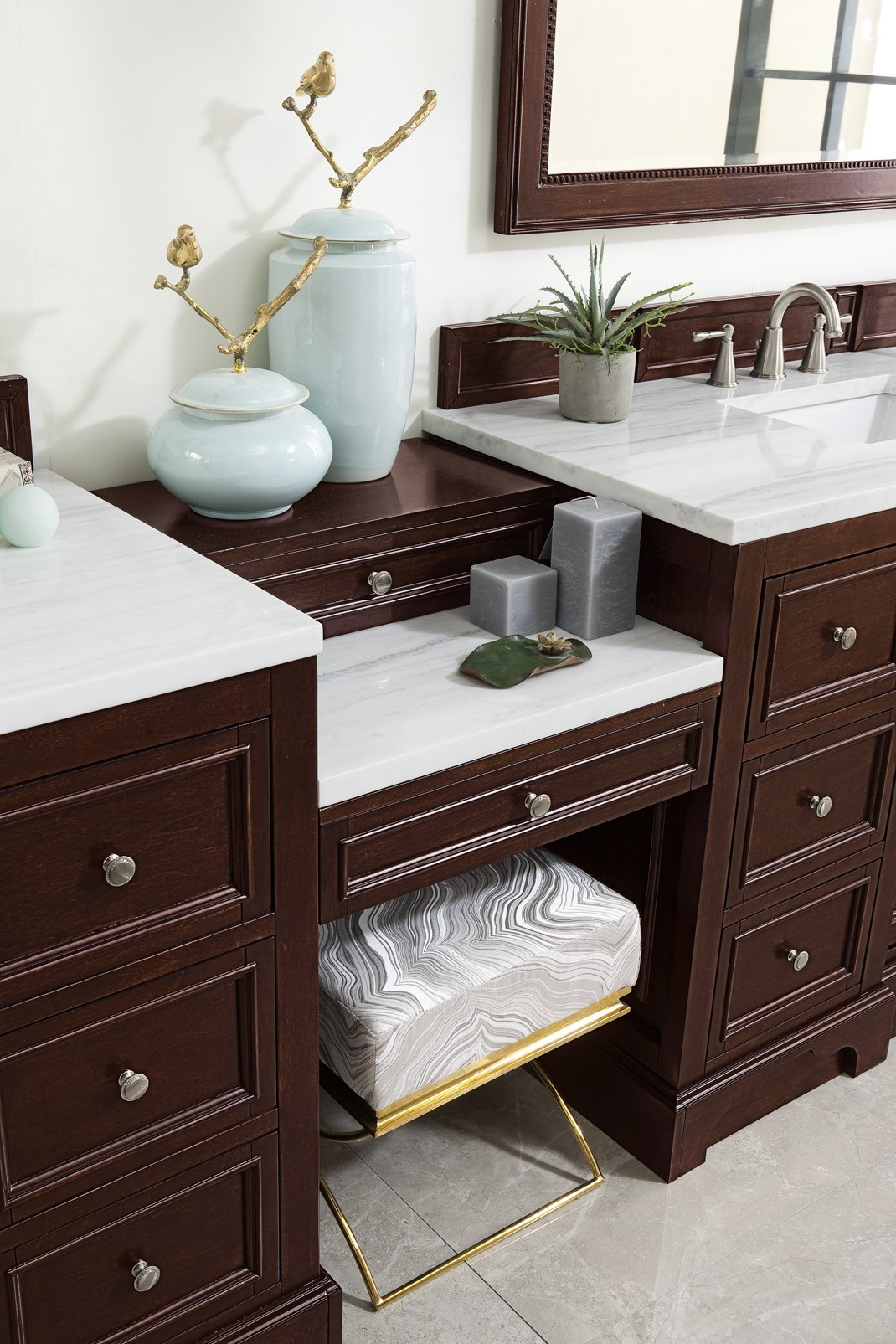 "De Soto 118"" Double Bathroom Vanity Double bathroom Vanity James Martin Vanities"