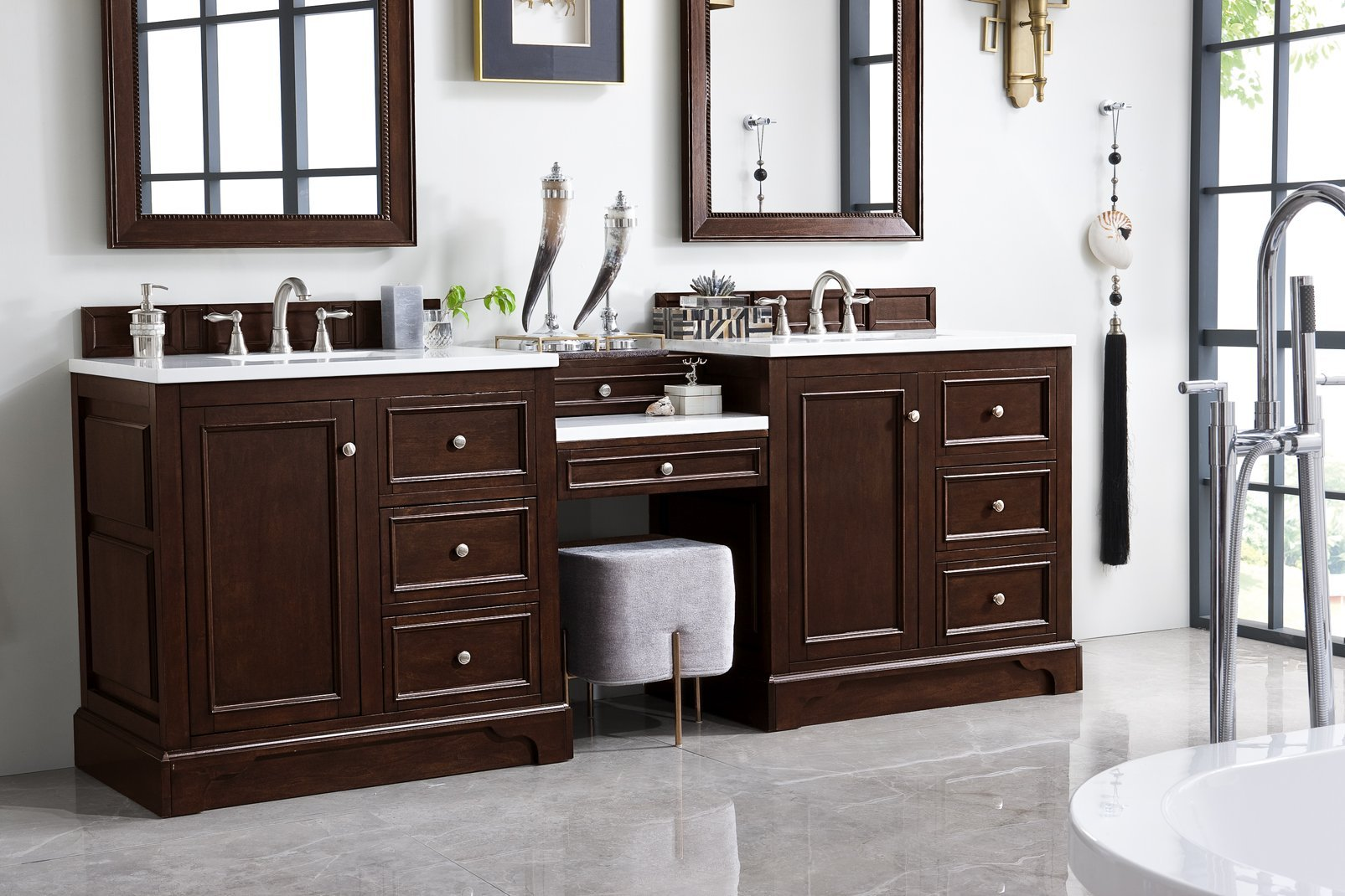 "De Soto 94"" Double Bathroom Vanity Double bathroom Vanity James Martin Vanities"