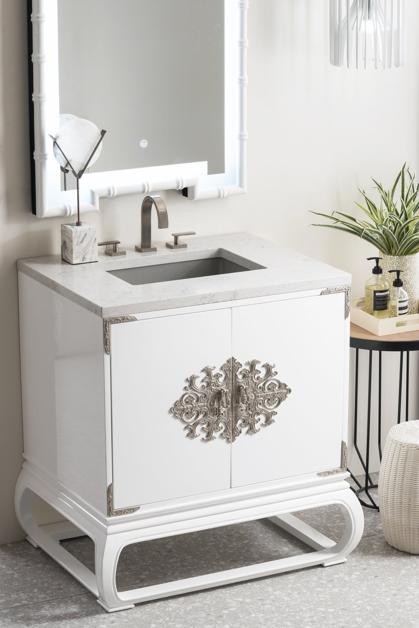 "Echo Park 30"" Single Vanity, Glossy White Single Bathroom Vanity James Martin Vanities"