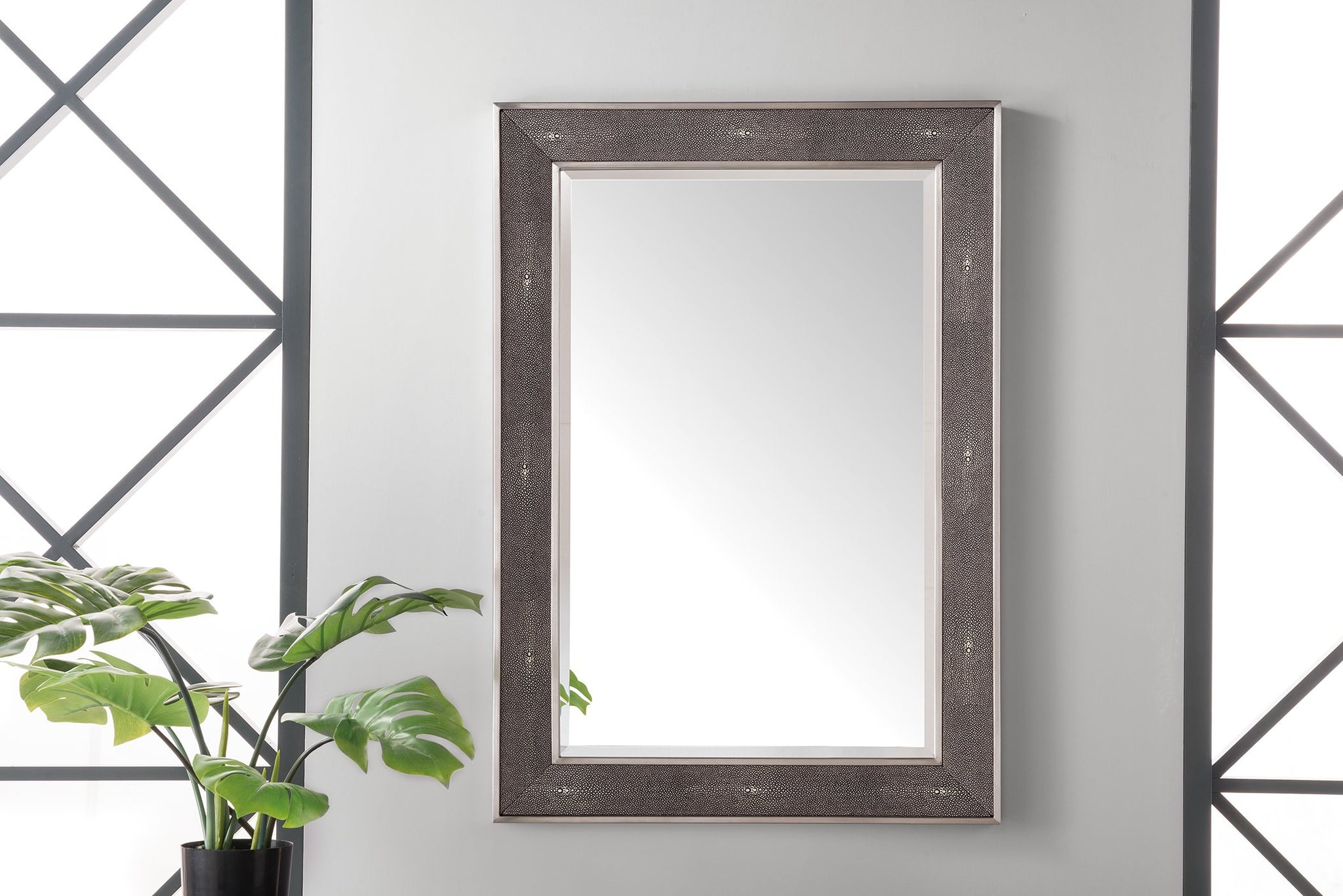 "Element 28"" Mirror, Silver with Charcoal Mirror James Martin Vanities"
