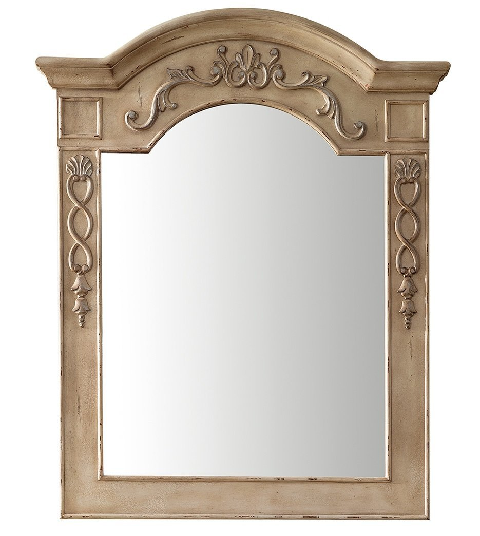 "European Traditions 32"" Mirror, Empire Linen Mirror James Martin Vanities"