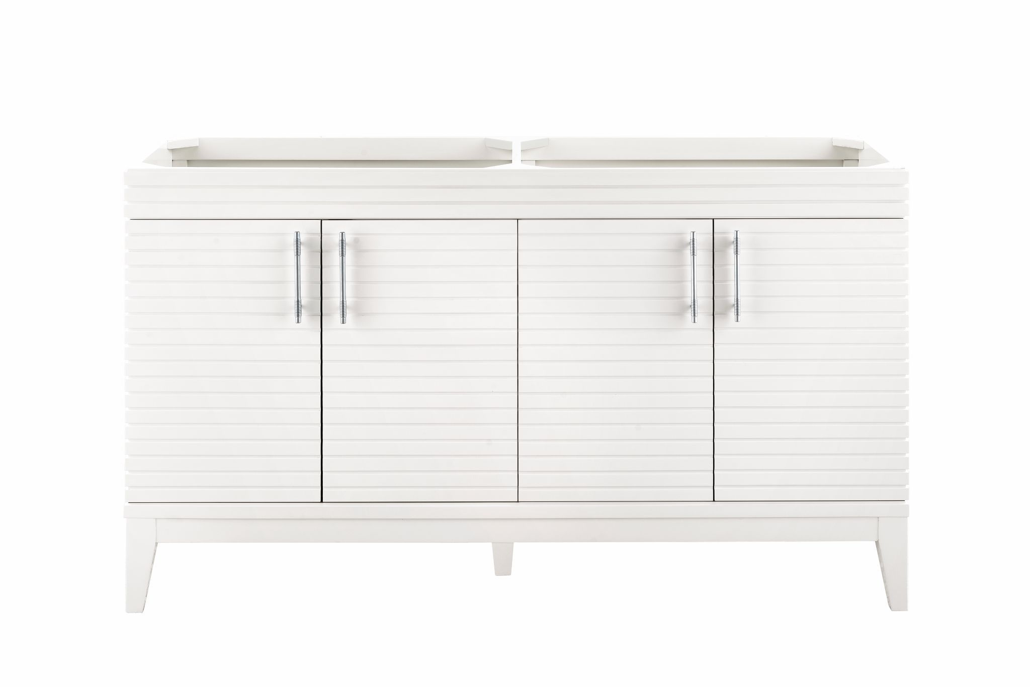 "Lineage 59"" Double Bathroom Vanity, Glossy White Double bathroom Vanity James Martin Vanities"