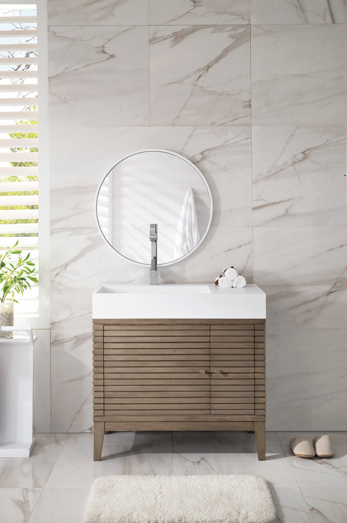 "Linear 36"" Single Bathroom Vanity"