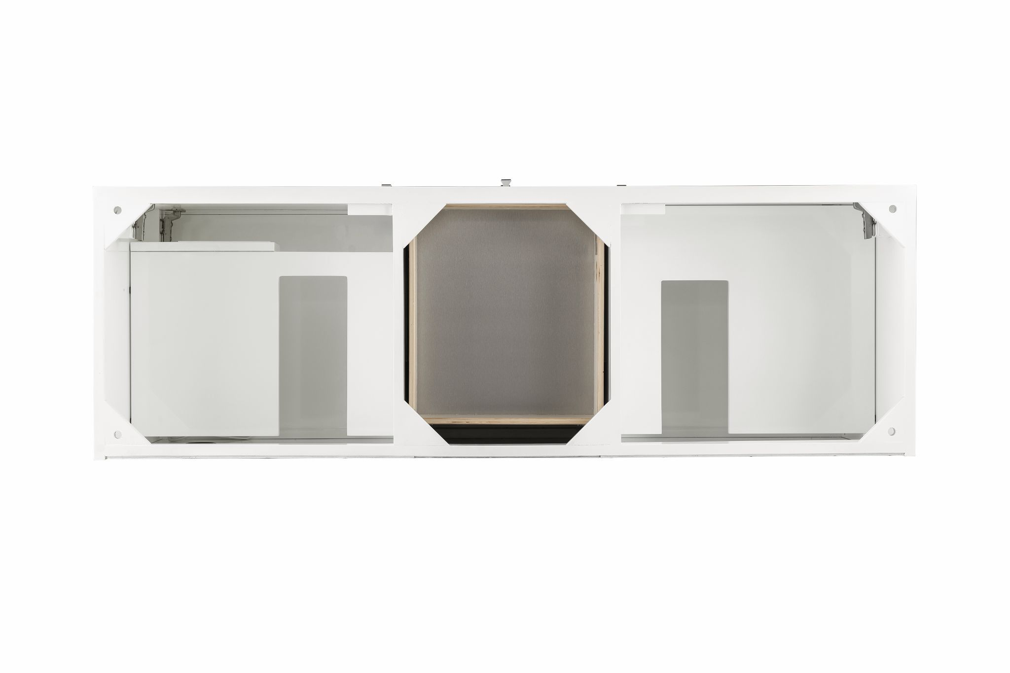 "Linear 59"" Double Bathroom Vanity, Glossy White Double bathroom Vanity James Martin Vanities"