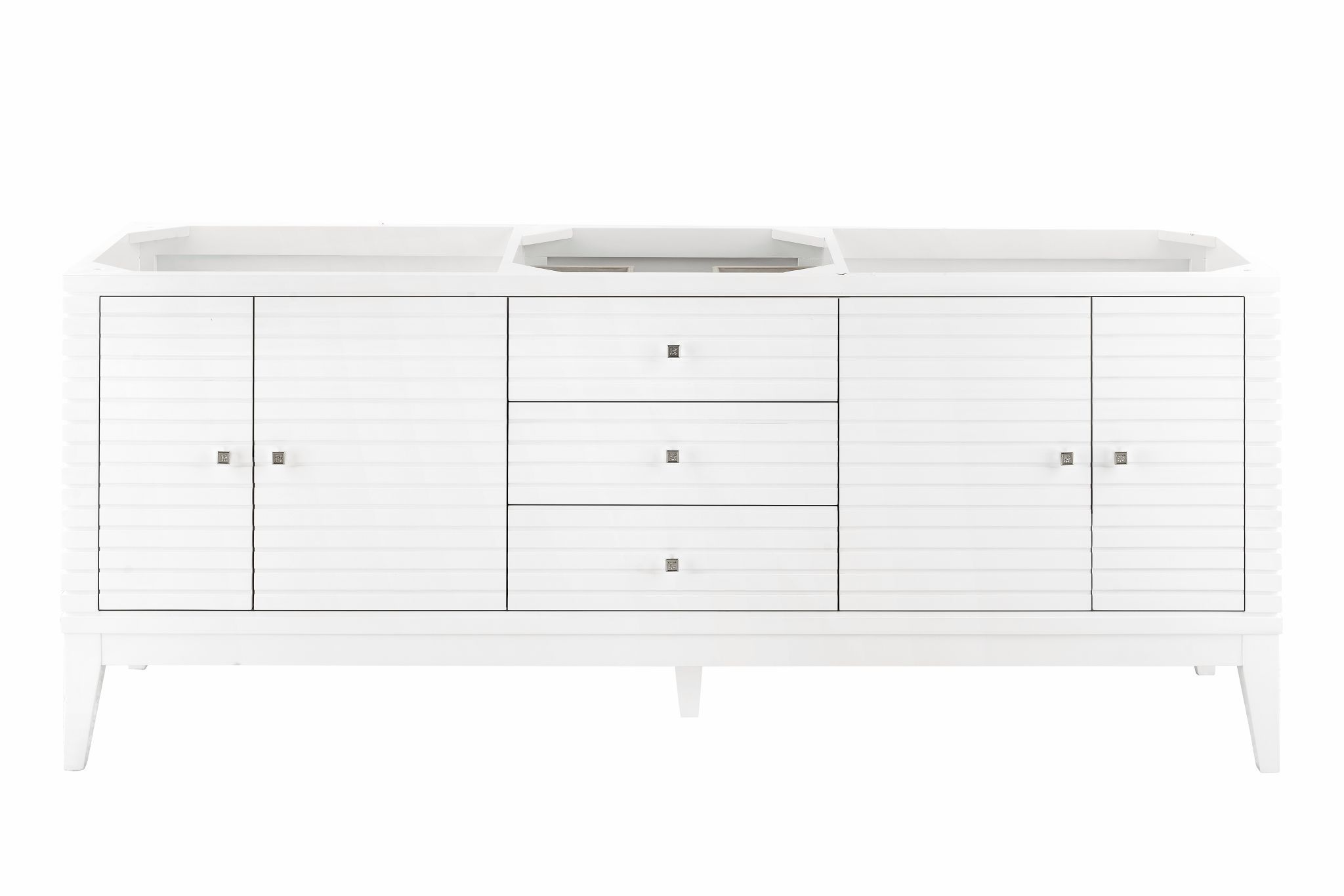 "Linear 72"" Double Bathroom Vanity, Glossy White Double bathroom Vanity James Martin Vanities"