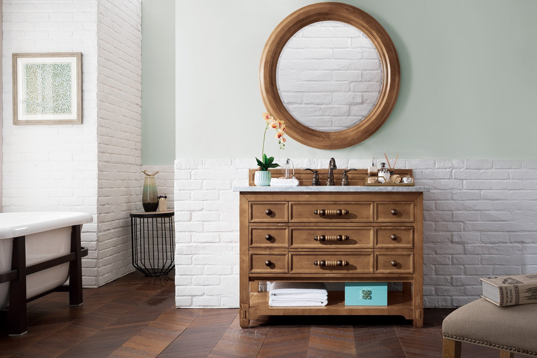 "Malibu 48"" Single Bathroom Vanity Single Bathroom Vanity James Martin Vanities"