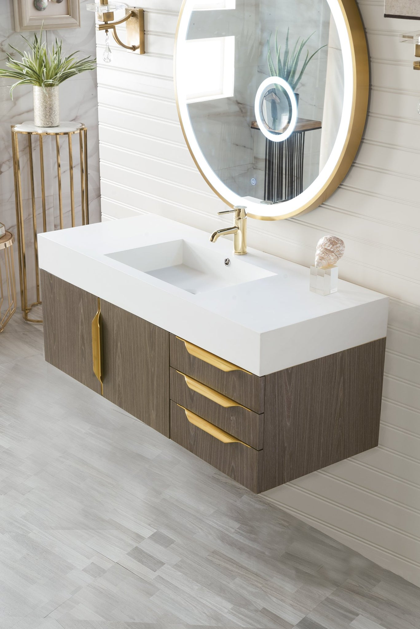 "Mercer Island 48"" Single Bathroom Vanity, Ash Gray Single Bathroom Vanity James Martin Vanities"