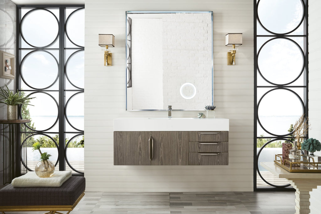 "Mercer Island 48"" Single Bathroom Vanity, Ash Gray"
