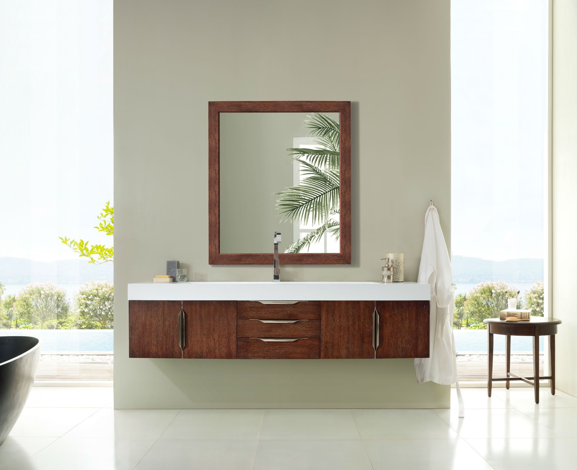 "Mercer Island 72"" Single Bathroom Vanity, Coffee Oak Single Bathroom Vanity James Martin Vanities"