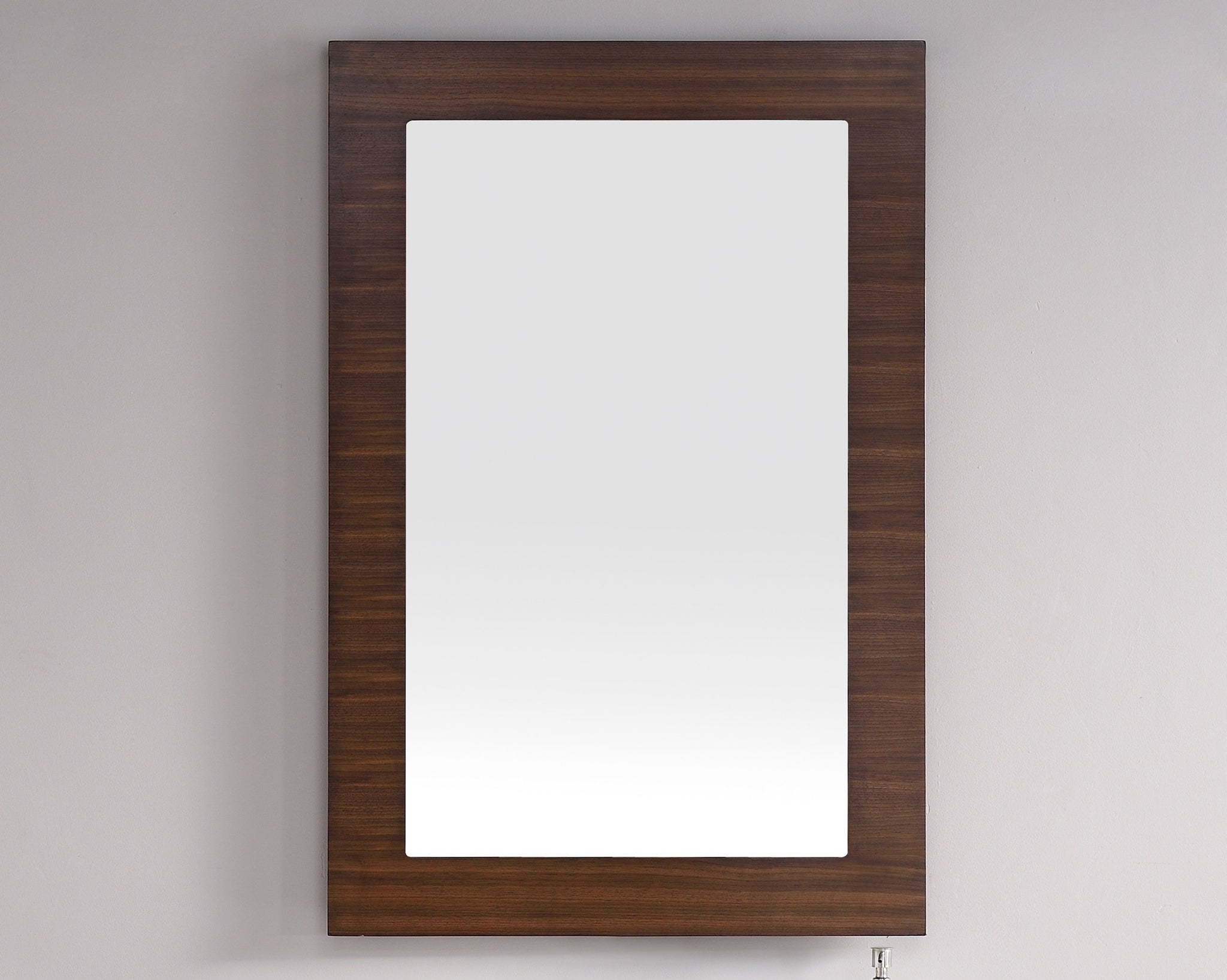 "Metropolitan 30"" Mirror, American Walnut Mirror James Martin Vanities"