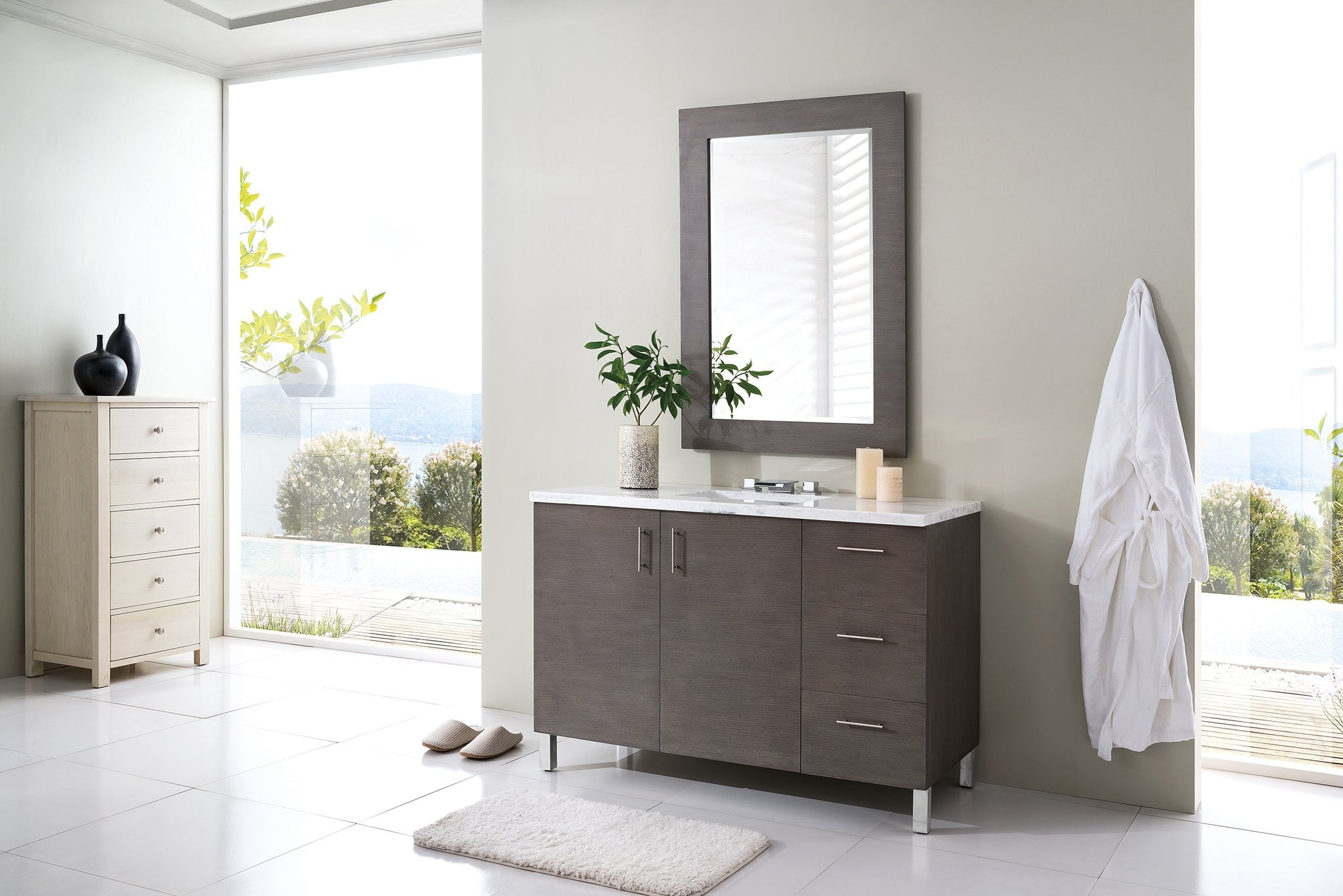 "Metropolitan 48"" Single Bathroom Vanity Single Bathroom Vanity James Martin Vanities"