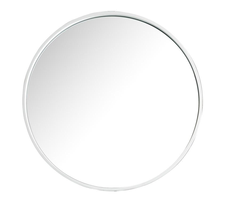 "Montreal 28"" Round Mirror, Glossy White Mirror James Martin Vanities"