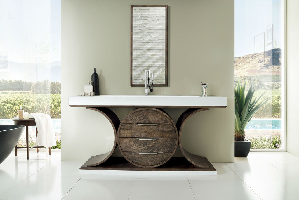 "Oasis 72"" Single Bathroom Vanity, Olive Ash Eclipse"