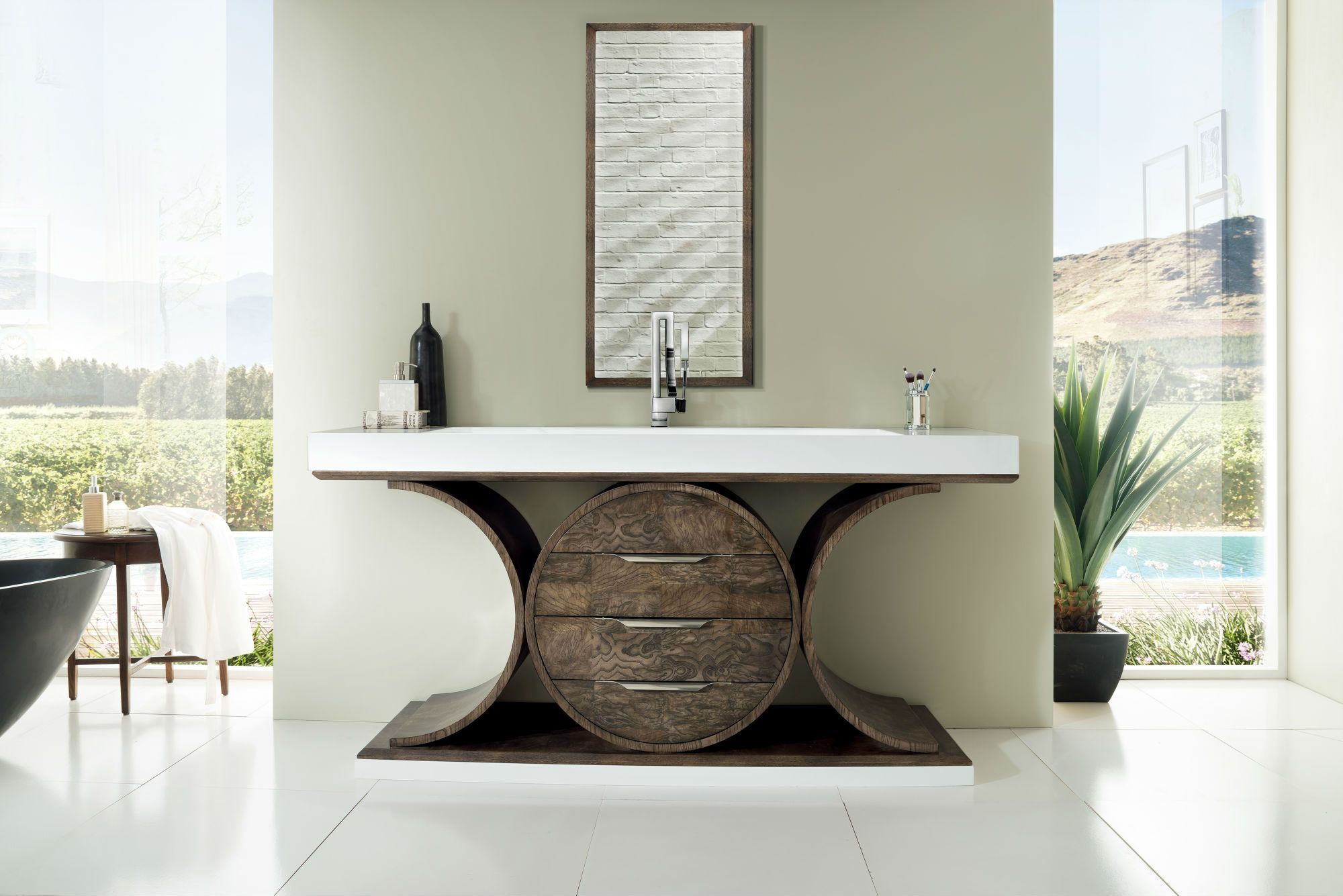 "Oasis 72"" Single Bathroom Vanity, Olive Ash Eclipse Single Bathroom Vanity James Martin Vanities"