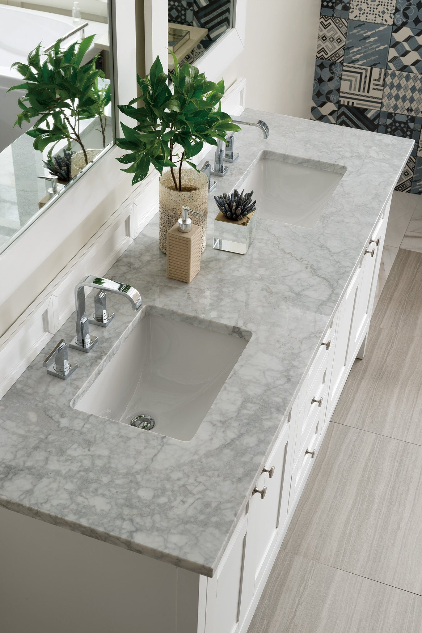 "Palisades 72"" Double Bathroom Vanity Double bathroom Vanity James Martin Vanities"