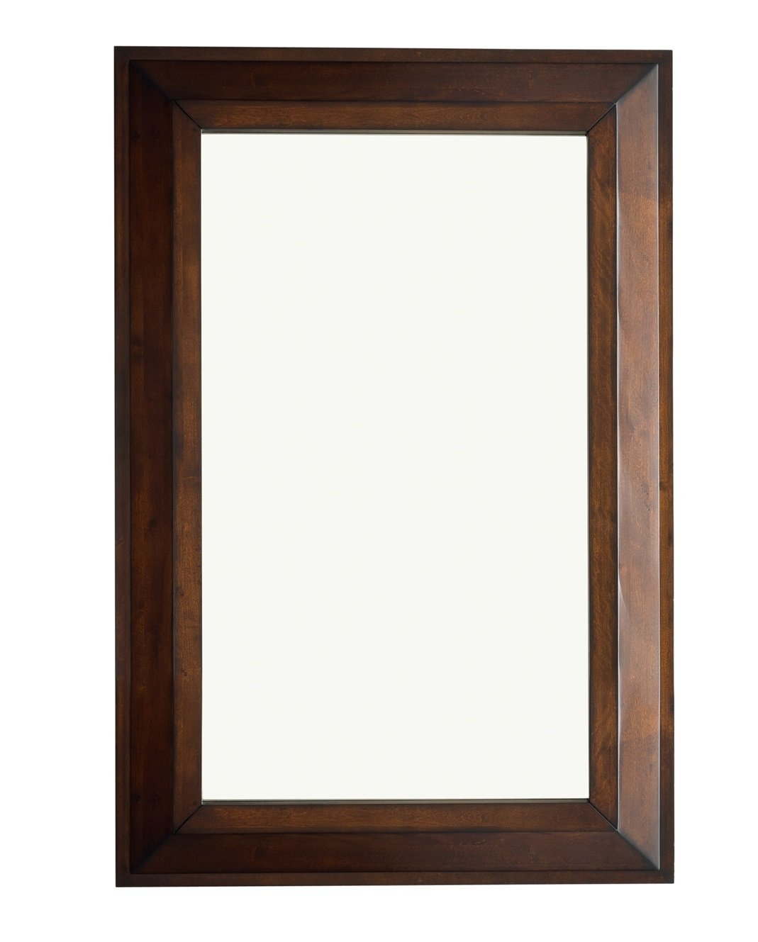"Portland 28"" Rectangular Mirror, Burnished Mahogany Mirror James Martin Vanities"