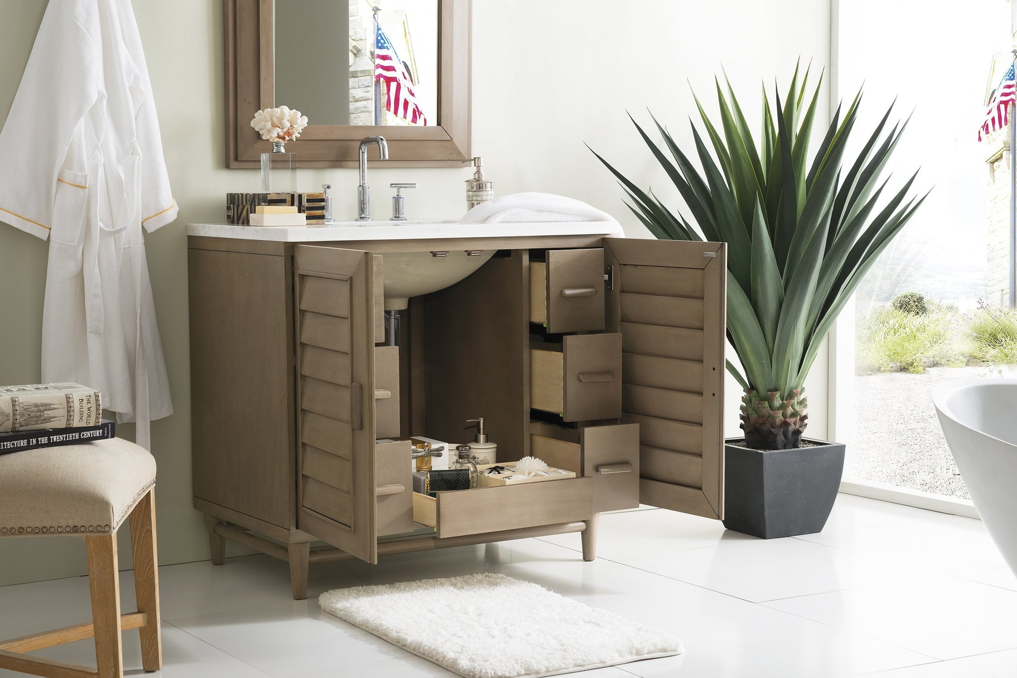"Portland 36"" Single Bathroom Vanity Single Bathroom Vanity James Martin Vanities"