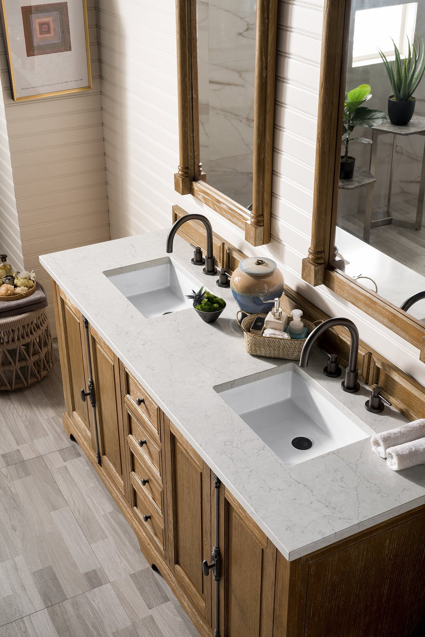 "Providence 72"" Double Bathroom Vanity Double bathroom Vanity James Martin Vanities"