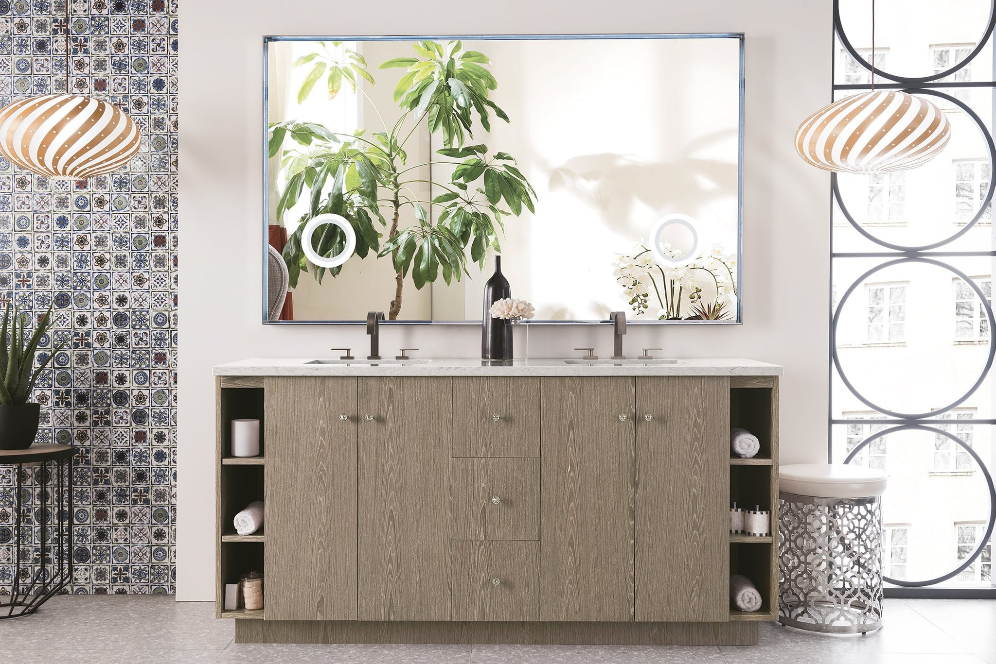 "Seaside 72"" Double Vanity, Silver Apricot Double bathroom Vanity James Martin Vanities"