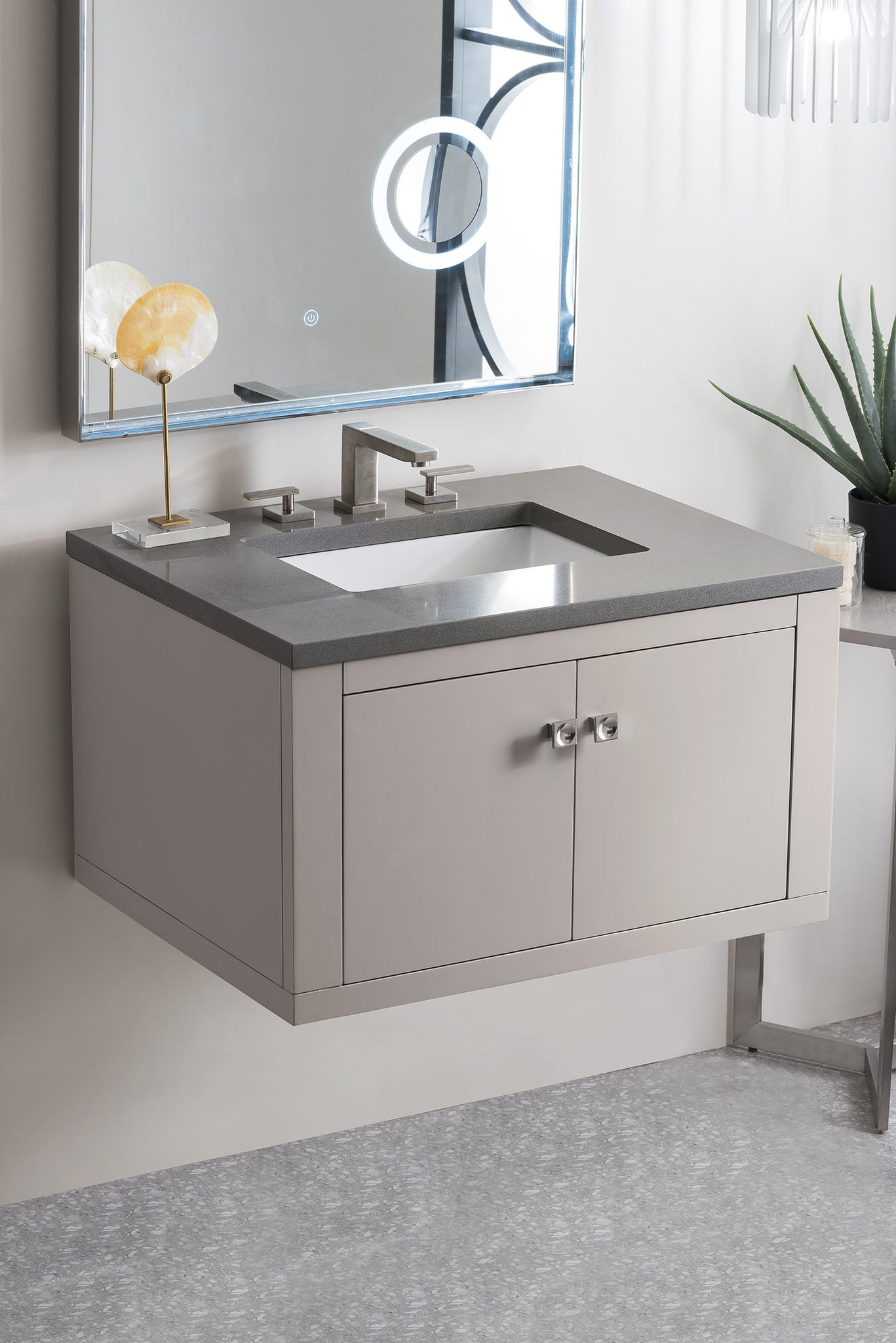 "Silverlake 30"" Single Vanity, Mountain Mist Single Bathroom Vanity James Martin Vanities"
