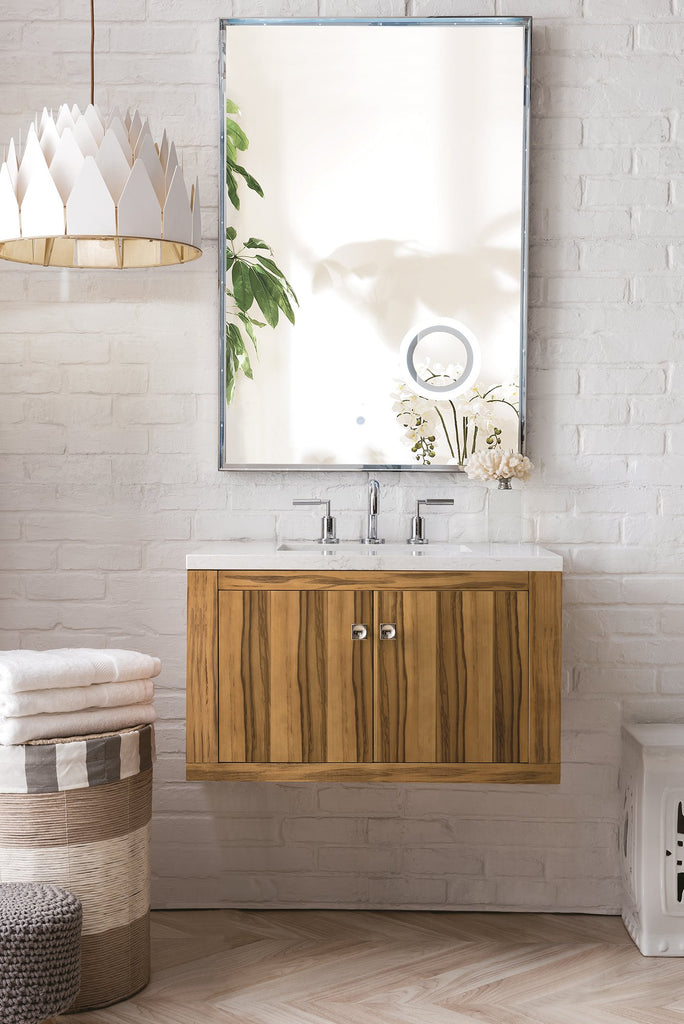 "Silverlake 30"" Single Bathroom Vanity, Natural Applewood"