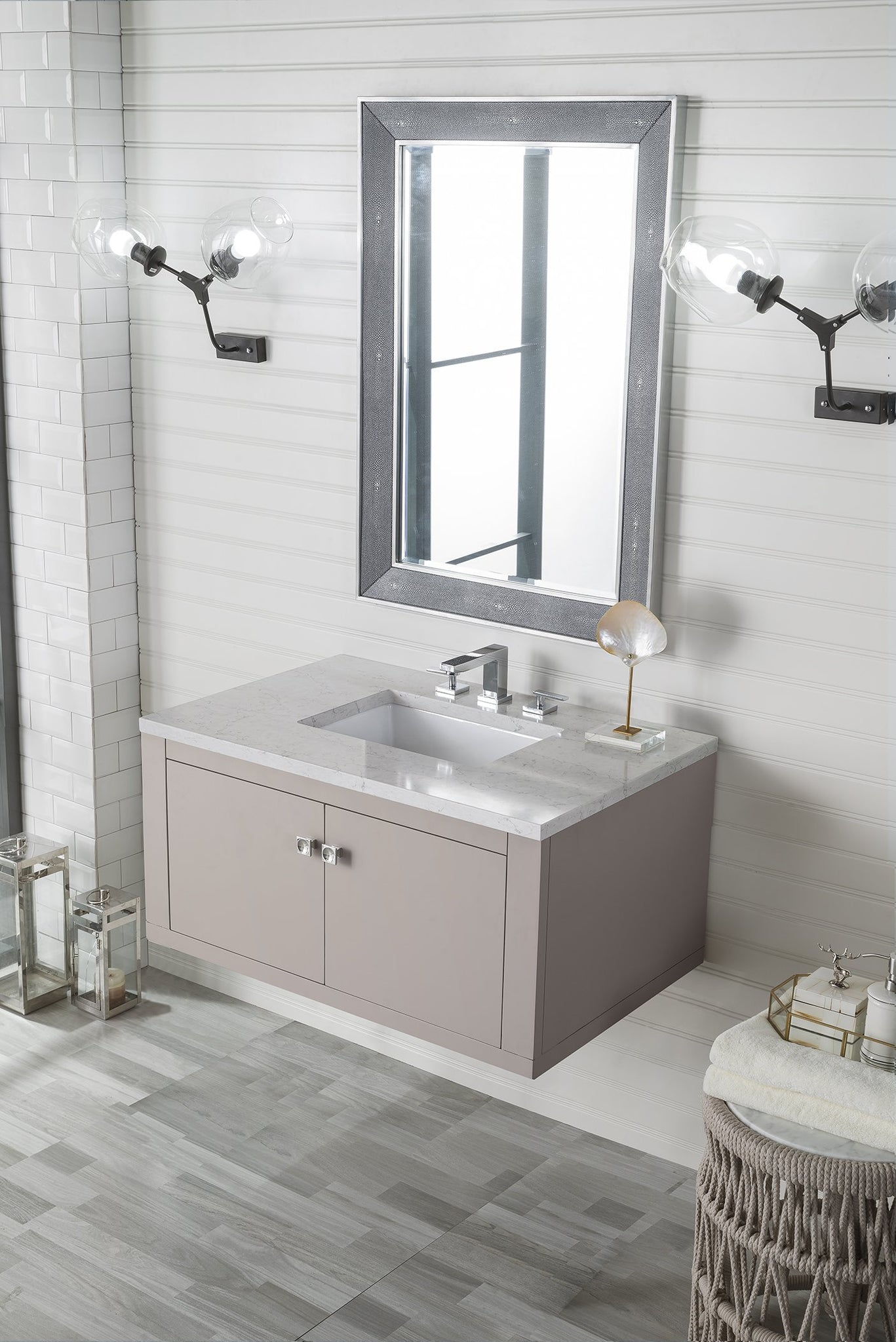 "Silverlake 36"" Single Vanity, Mountain Mist Single Bathroom Vanity James Martin Vanities"