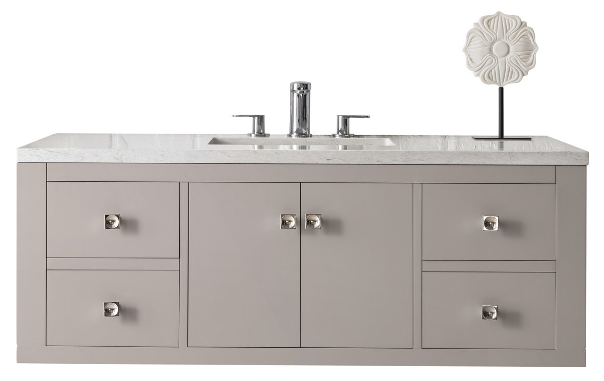 "Silverlake 48"" Single Vanity, Mountain Mist Single Bathroom Vanity James Martin Vanities"