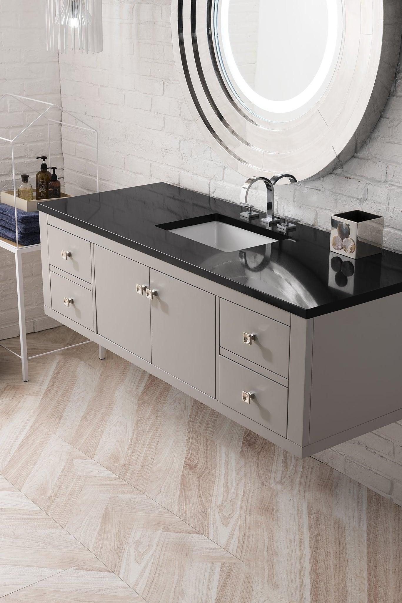"Silverlake 60"" Single Vanity, Mountain Mist Single Bathroom Vanity James Martin Vanities"