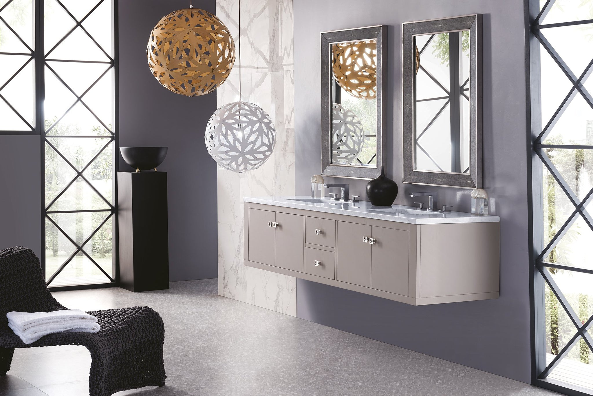 "Silverlake 72"" Double Vanity, Mountain Mist Double bathroom Vanity James Martin Vanities"